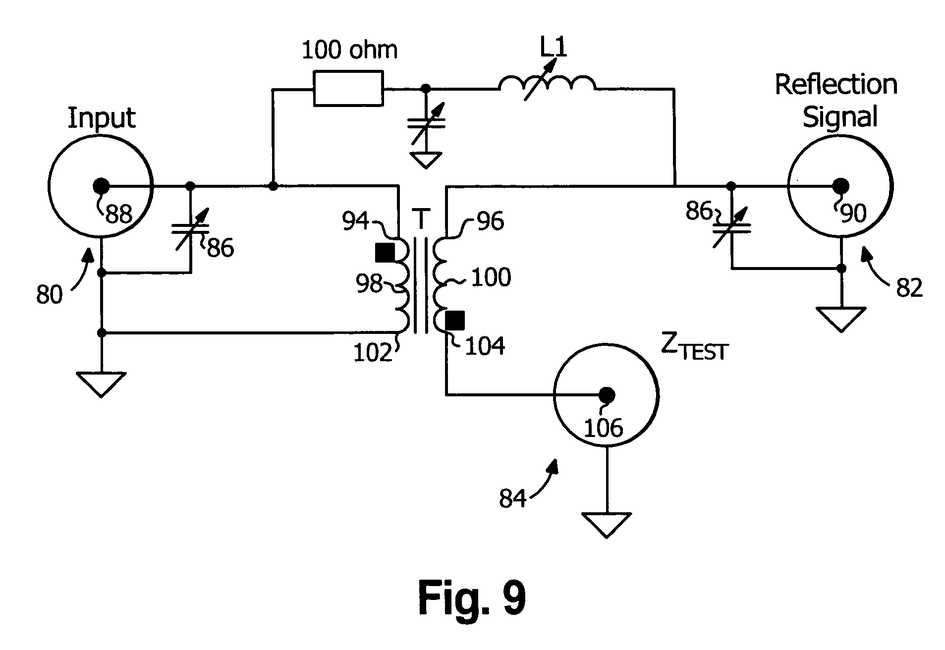 patent us20080265917 - return loss bridge circuit