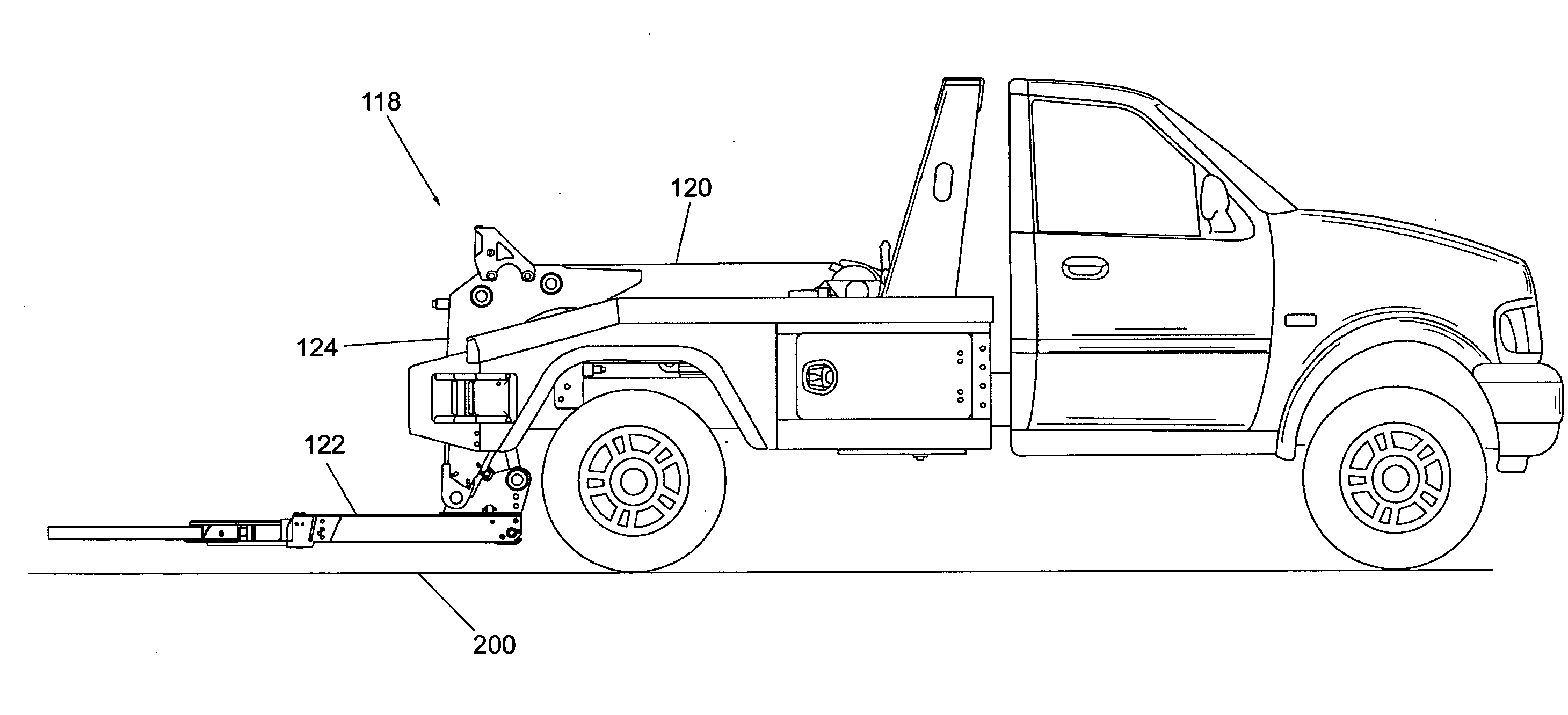 patent us20080279667 tow truck with underlift control google tow truck manufacturers at Tow Truck Diagram