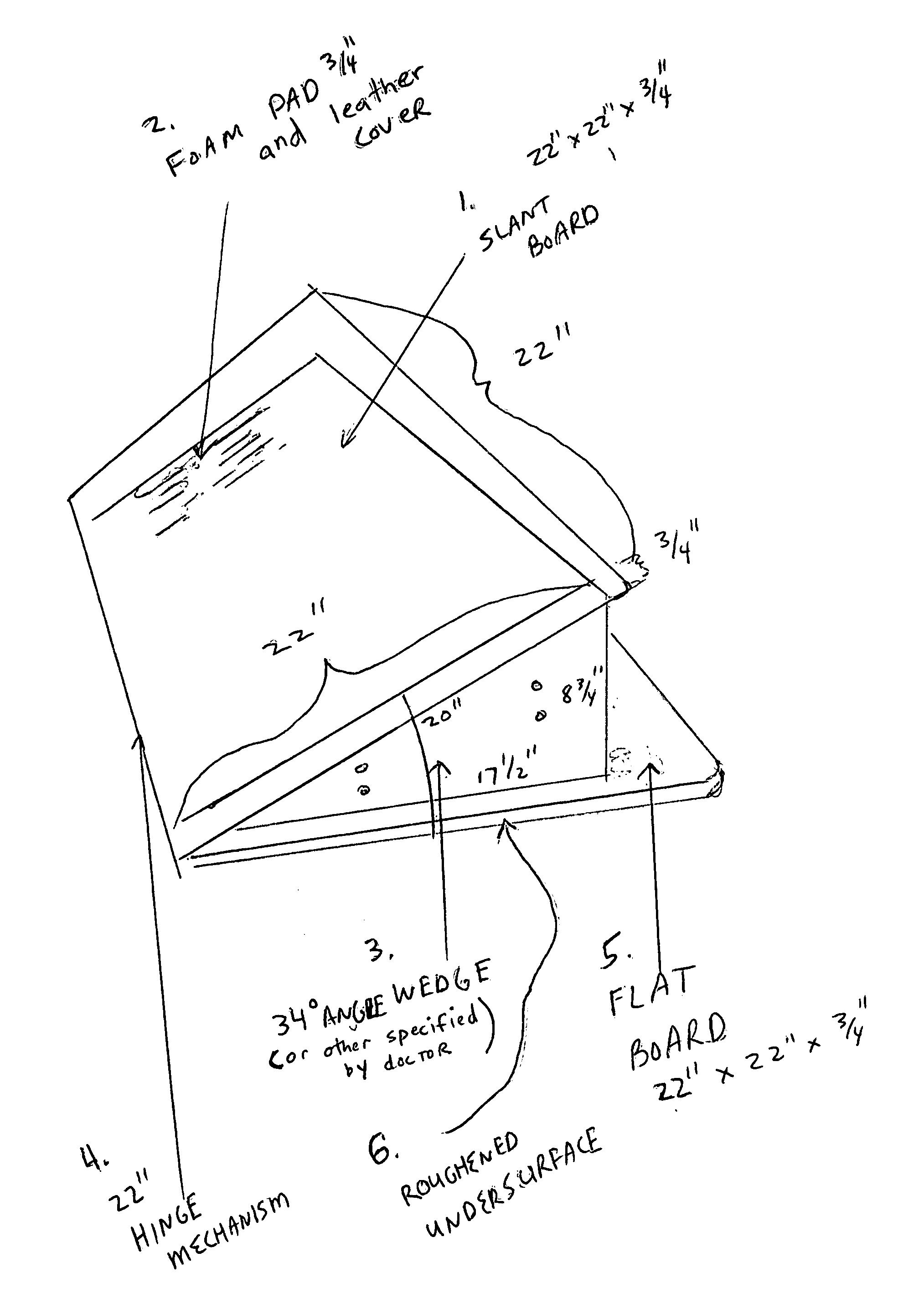 Patent Us20080306512 Portable Slant Board Anterior