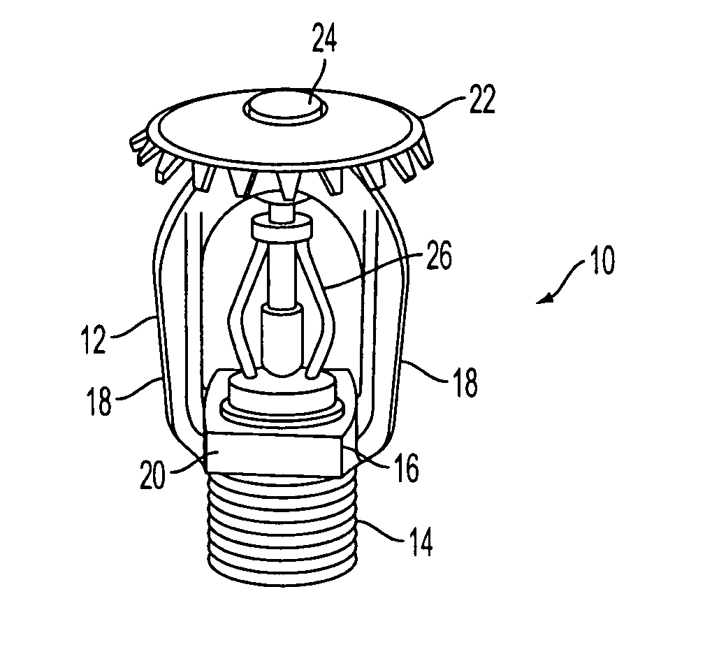 patent us20080308285 - corrosion resistant sprinklers ... diagram of sprinkler heads