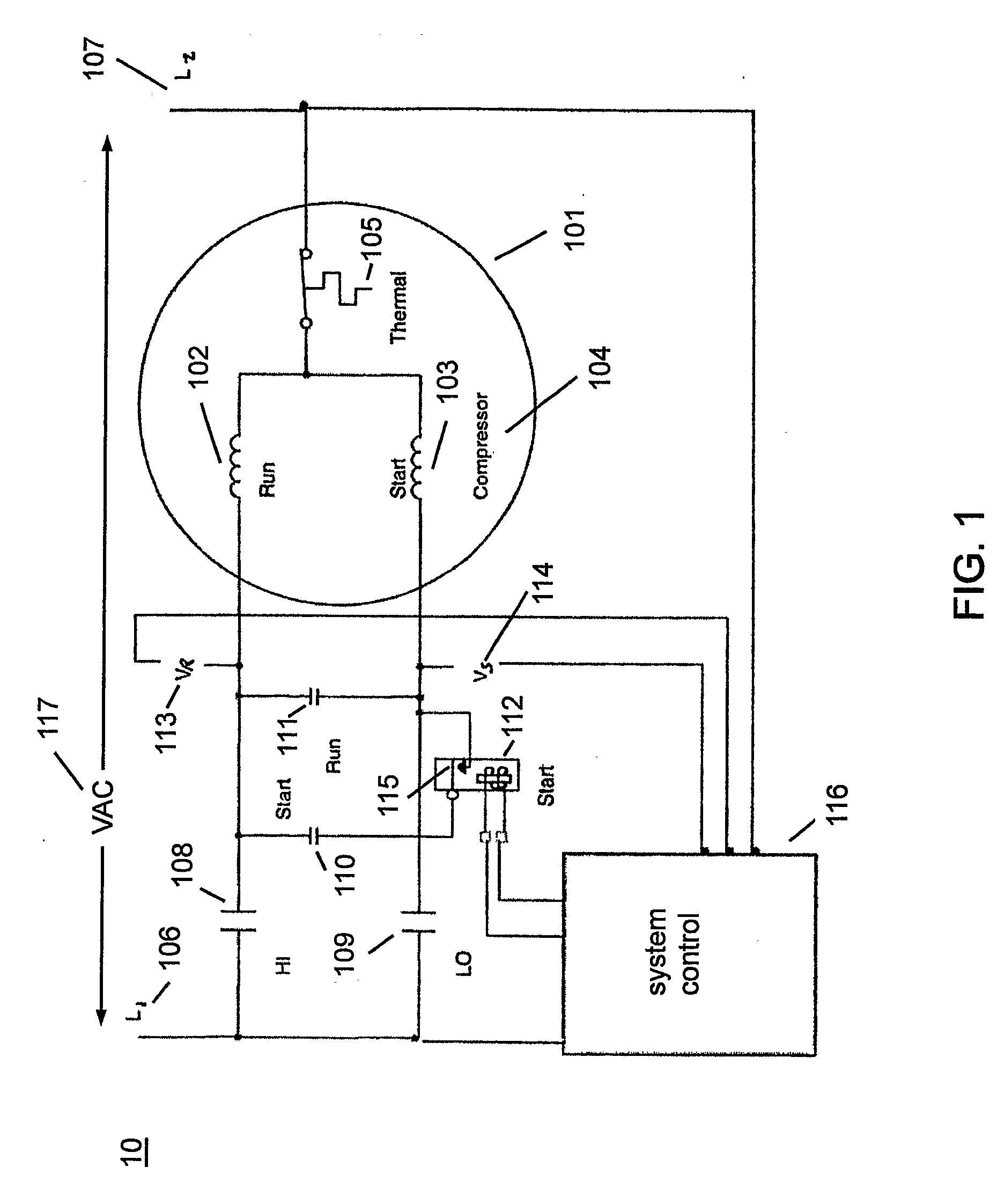 US20090001921A1 20090101 D00001 patent us20090001921 electronic method for starting a compressor cscr motor wiring diagram at gsmportal.co