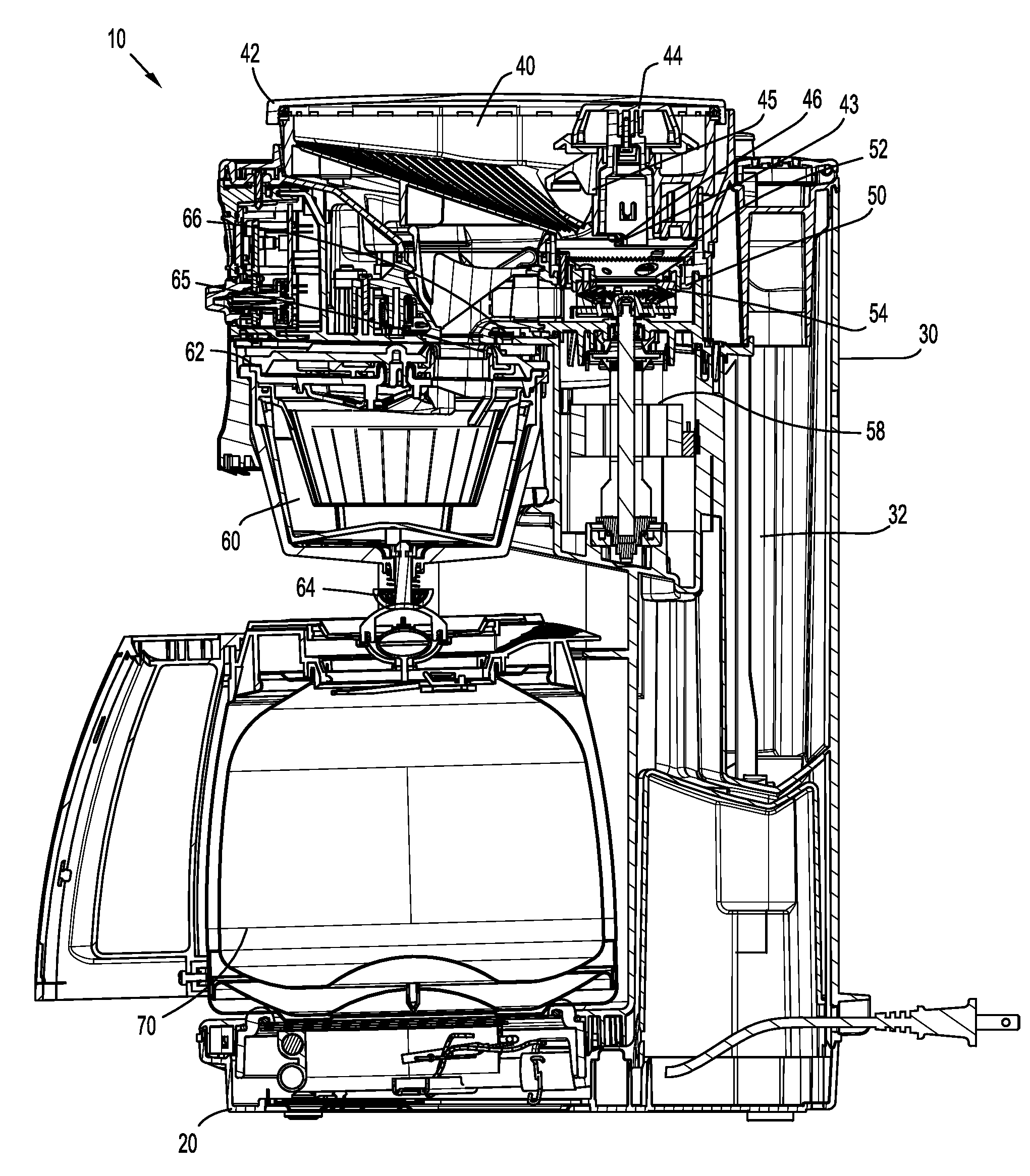 Coffee Maker Exploded : Patent US20090031900 - Coffee maker - Google Patents