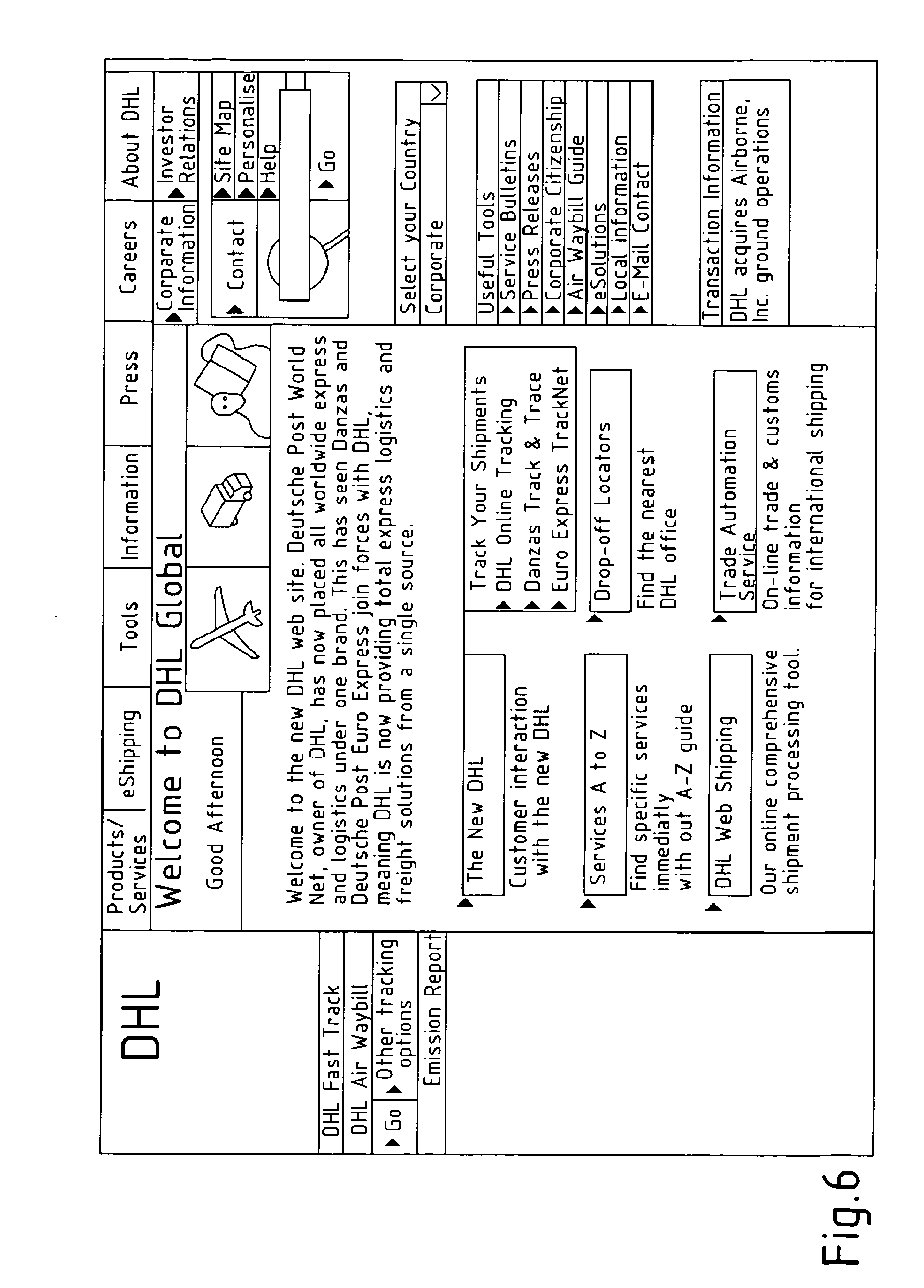 Dhl air express airway bill instructions - Patent Drawing