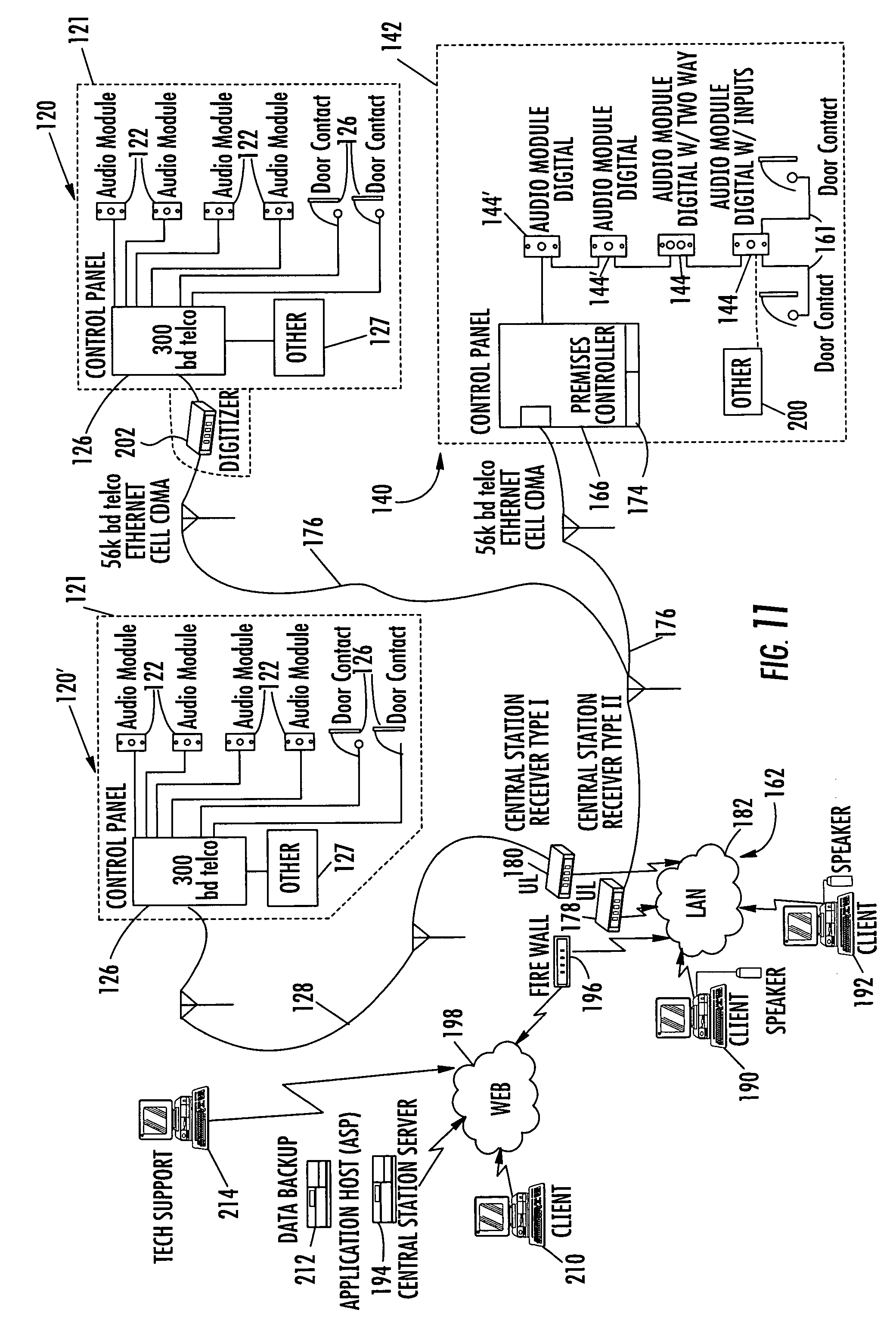 US20090058630A1 20090305 D00013 patent us20090058630 system and method for monitoring security sonitrol alarm wiring diagram at bakdesigns.co