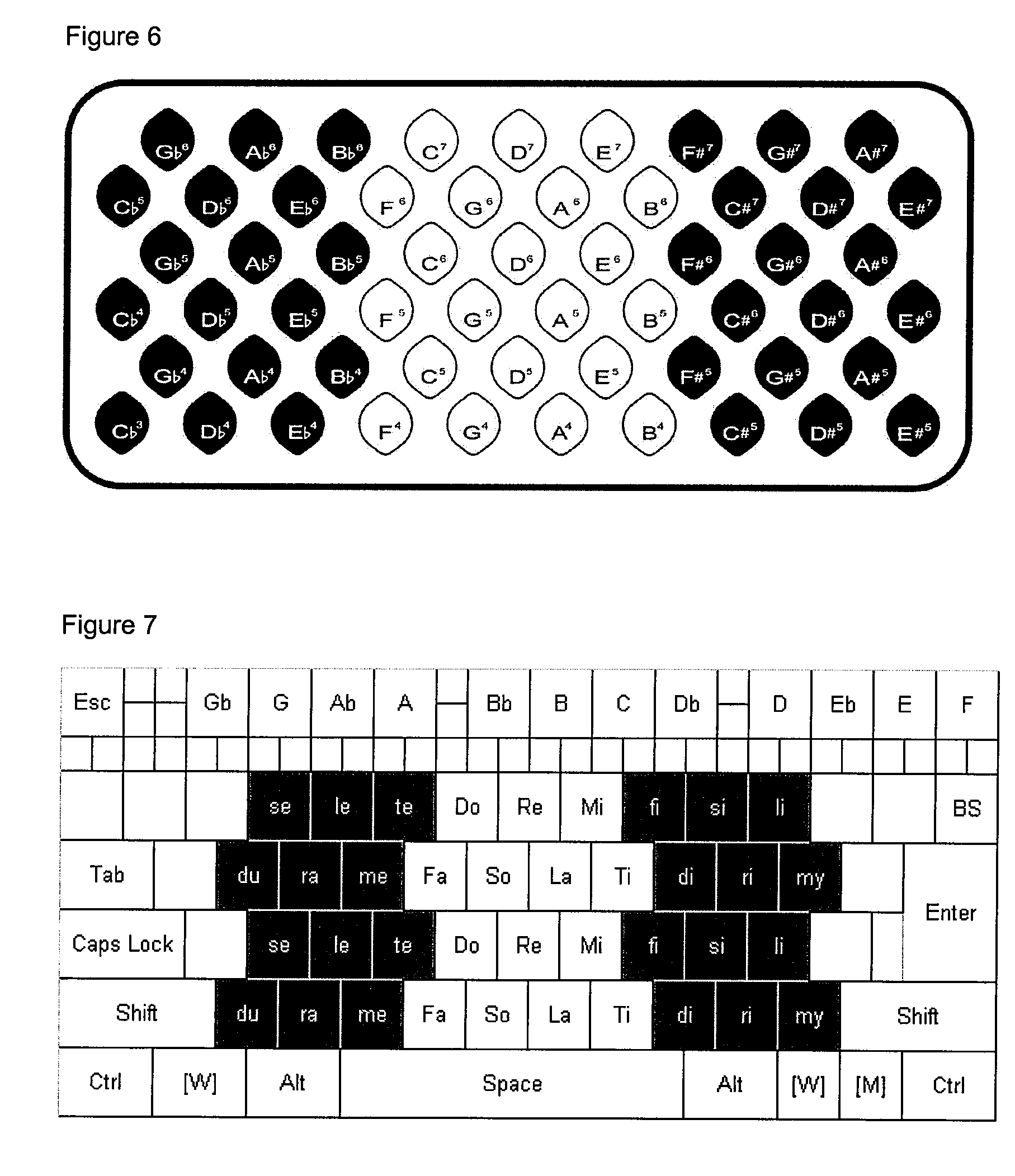 patent us20090114078 - musical button-field layout for alphanumeric keyboards