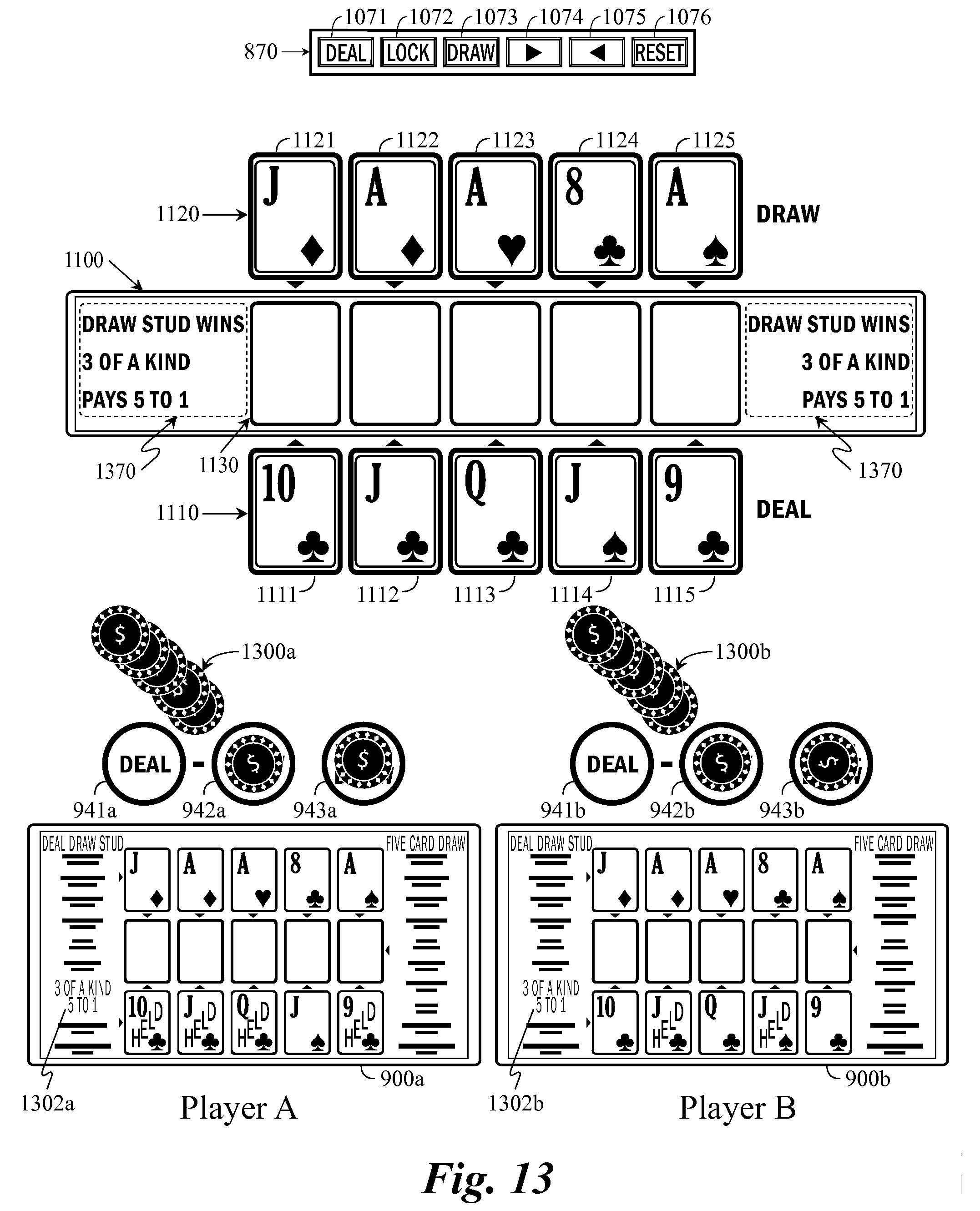 Poker hands multiple decks