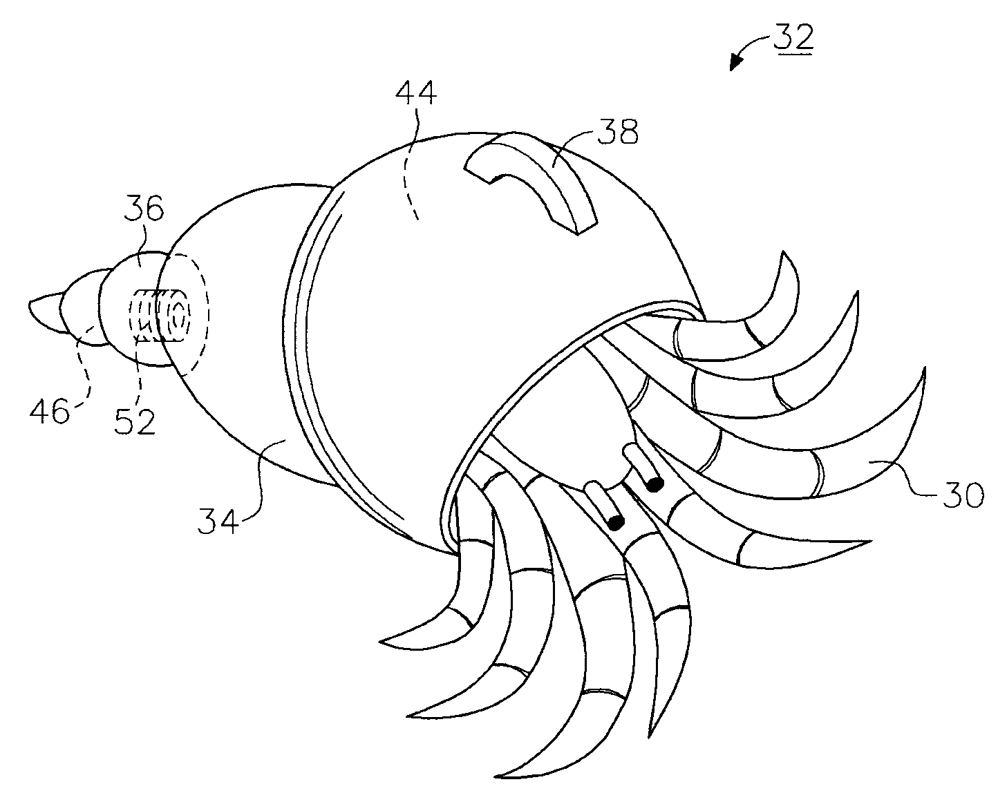 Patent US20090145367  Caring shell for hermit crab  Google Patents