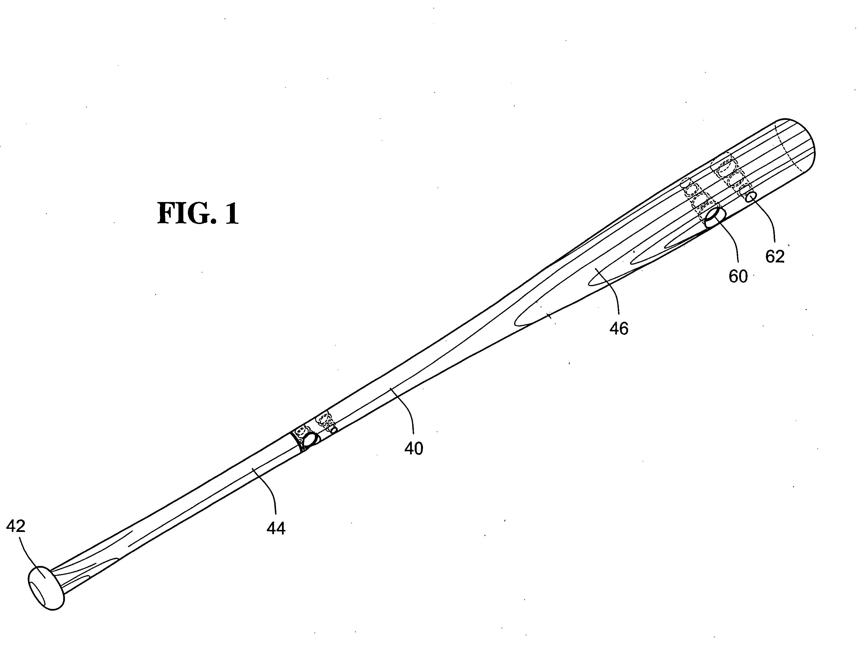 patent us20090149285 baseball bat utilizing stepped dowels