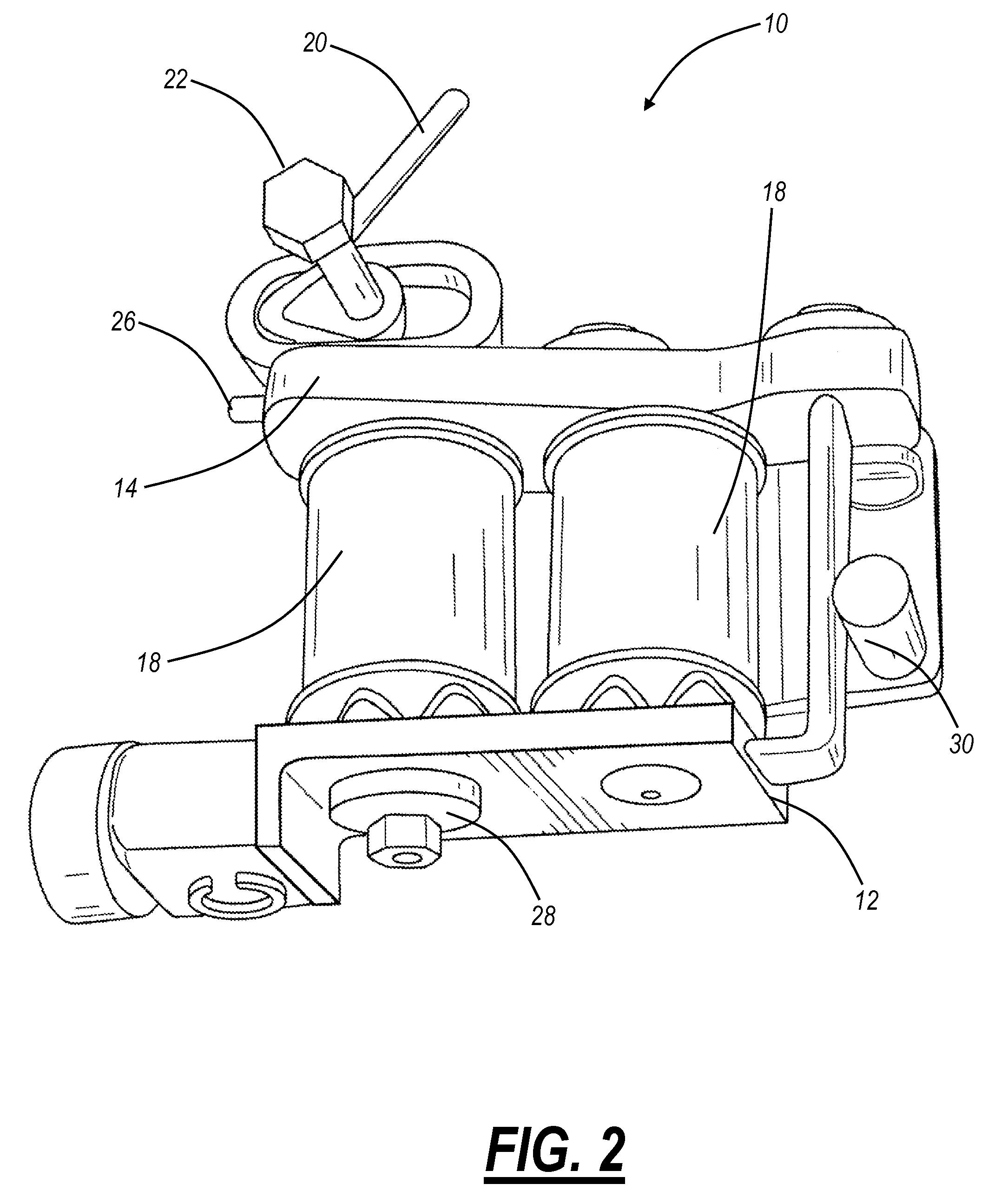 patent us20090183602 - tattoo machine