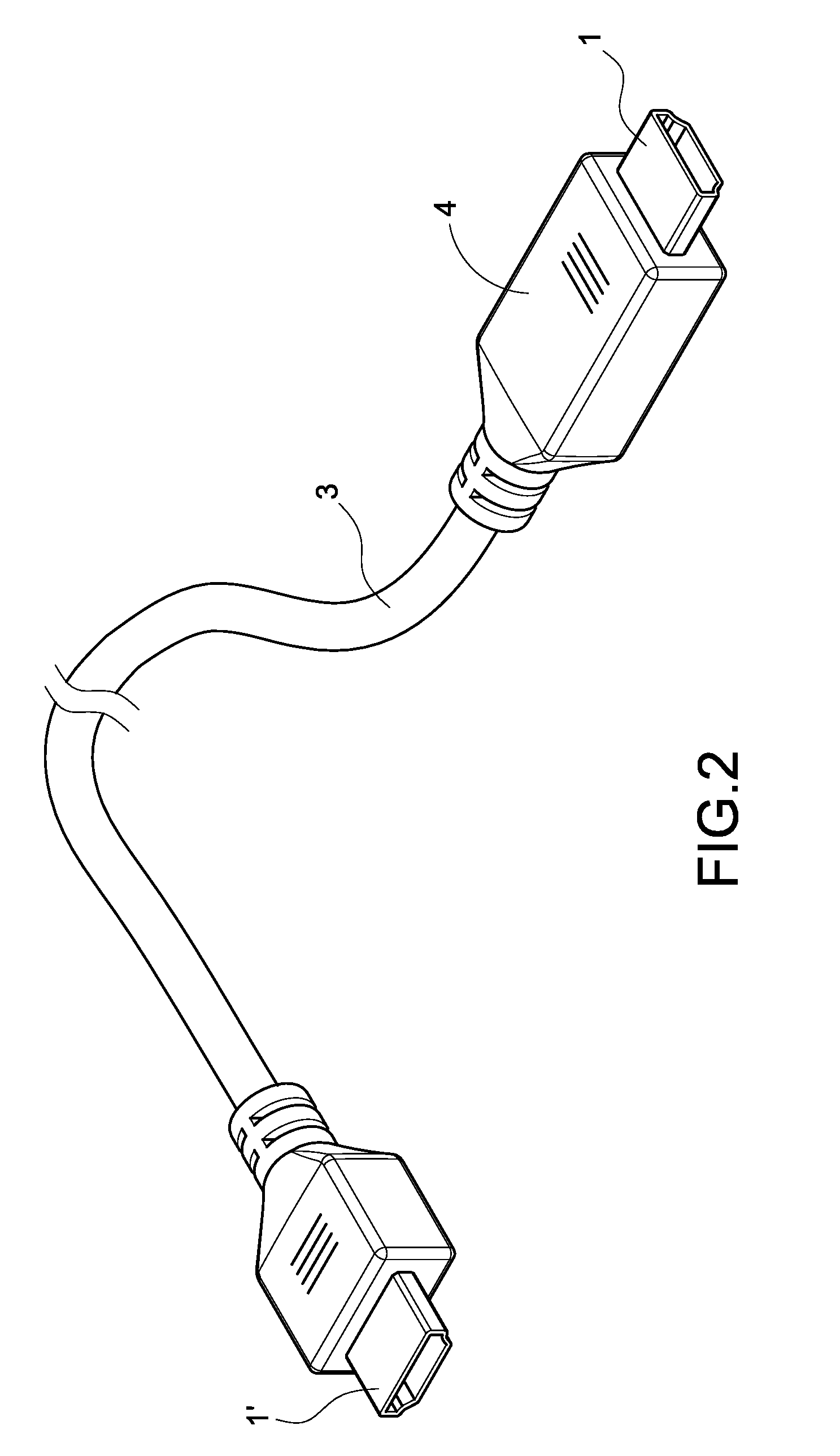 patent us20090203266 hdmi cable assembly protection patent drawing