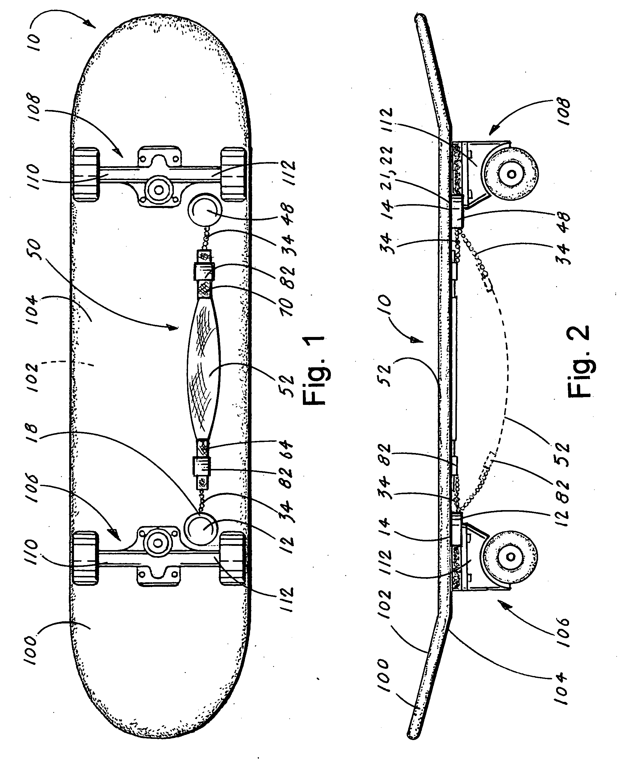 Patent US5020621 - Electric motor powered skateboard with integral ...