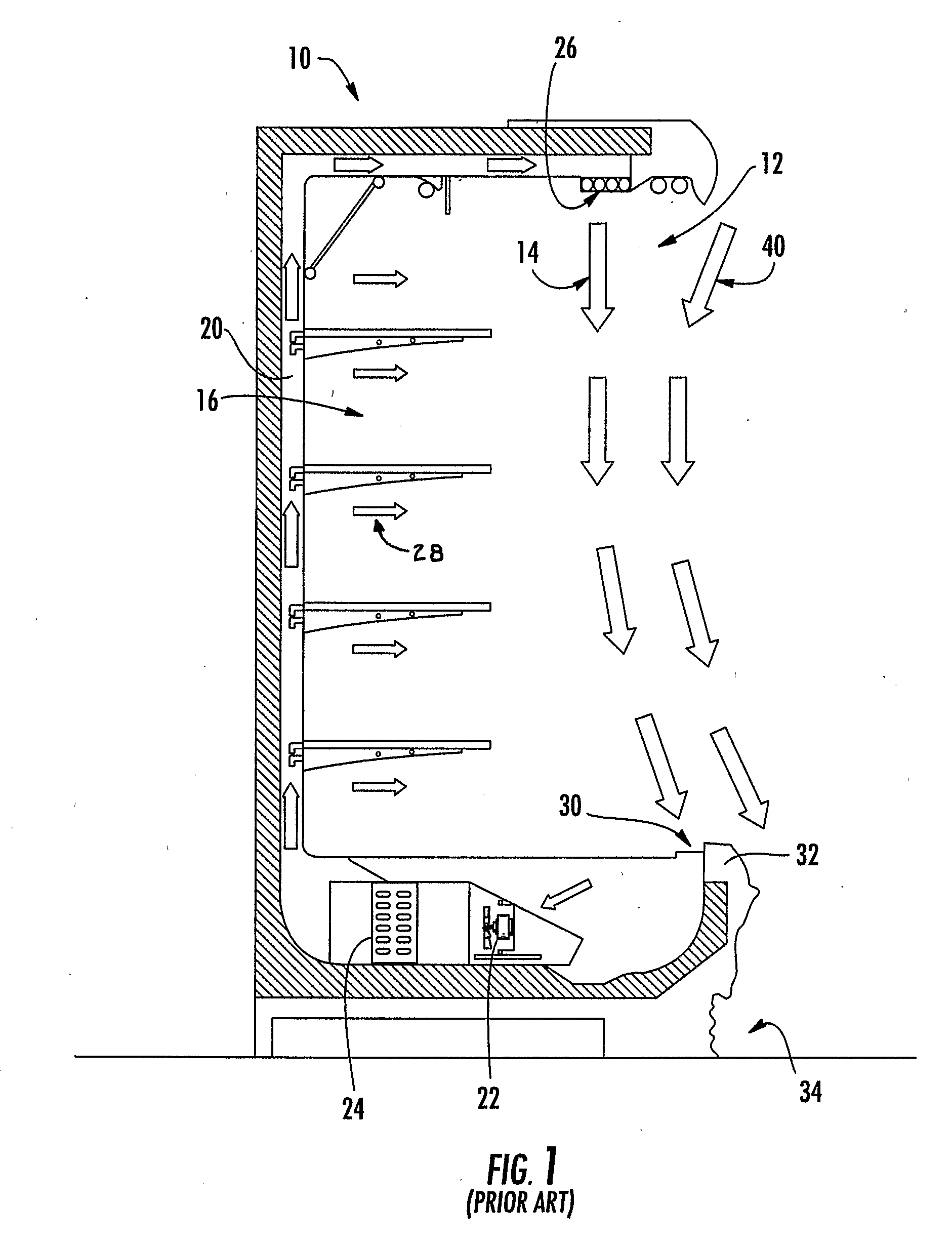 Patent US Air curtain system for a refrigerated case