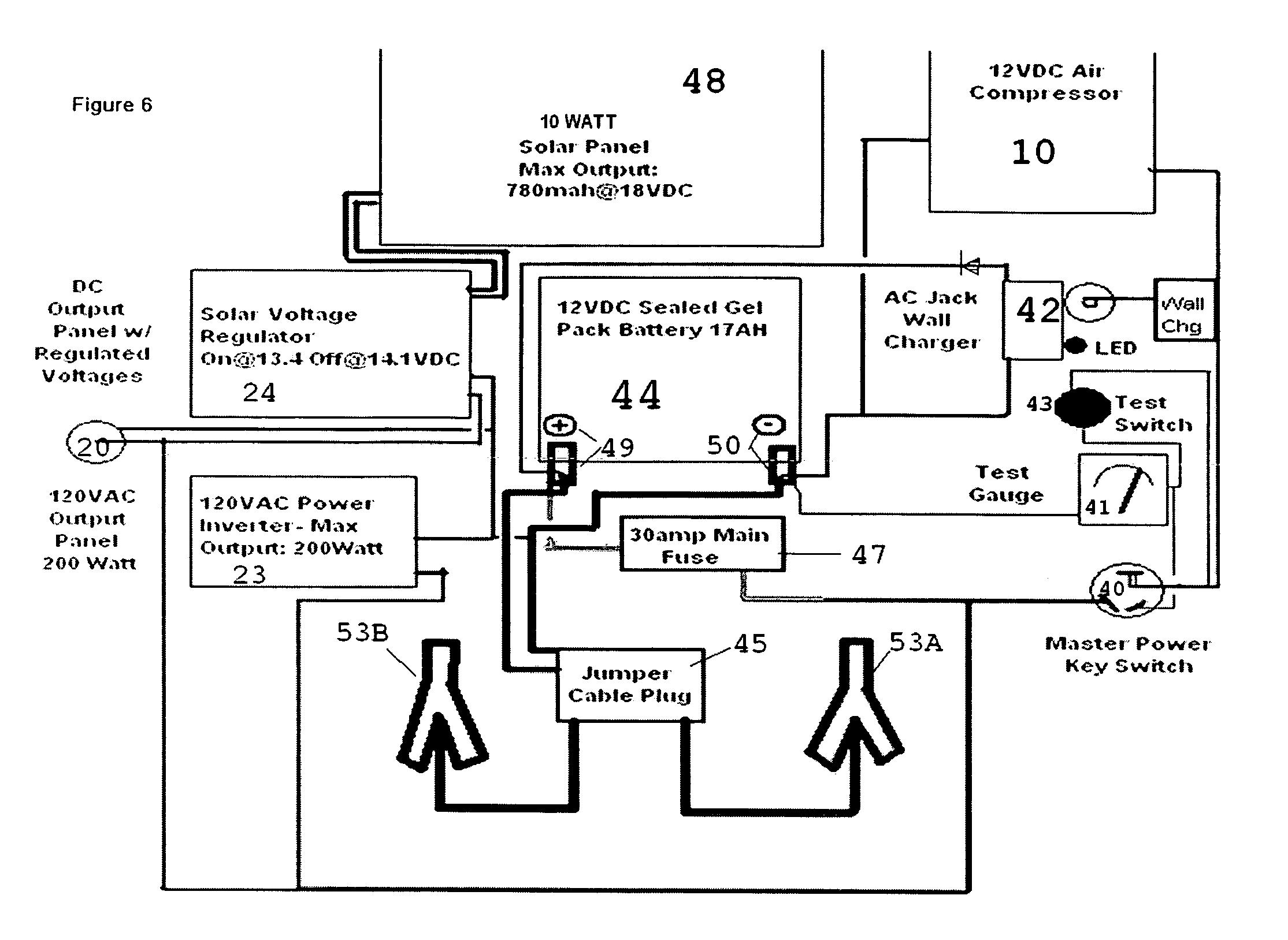 Patent Us20090230783 Solar Portable Power Center Google Patents Figure 1 Is 200watt Inverters Block Diagram Drawing