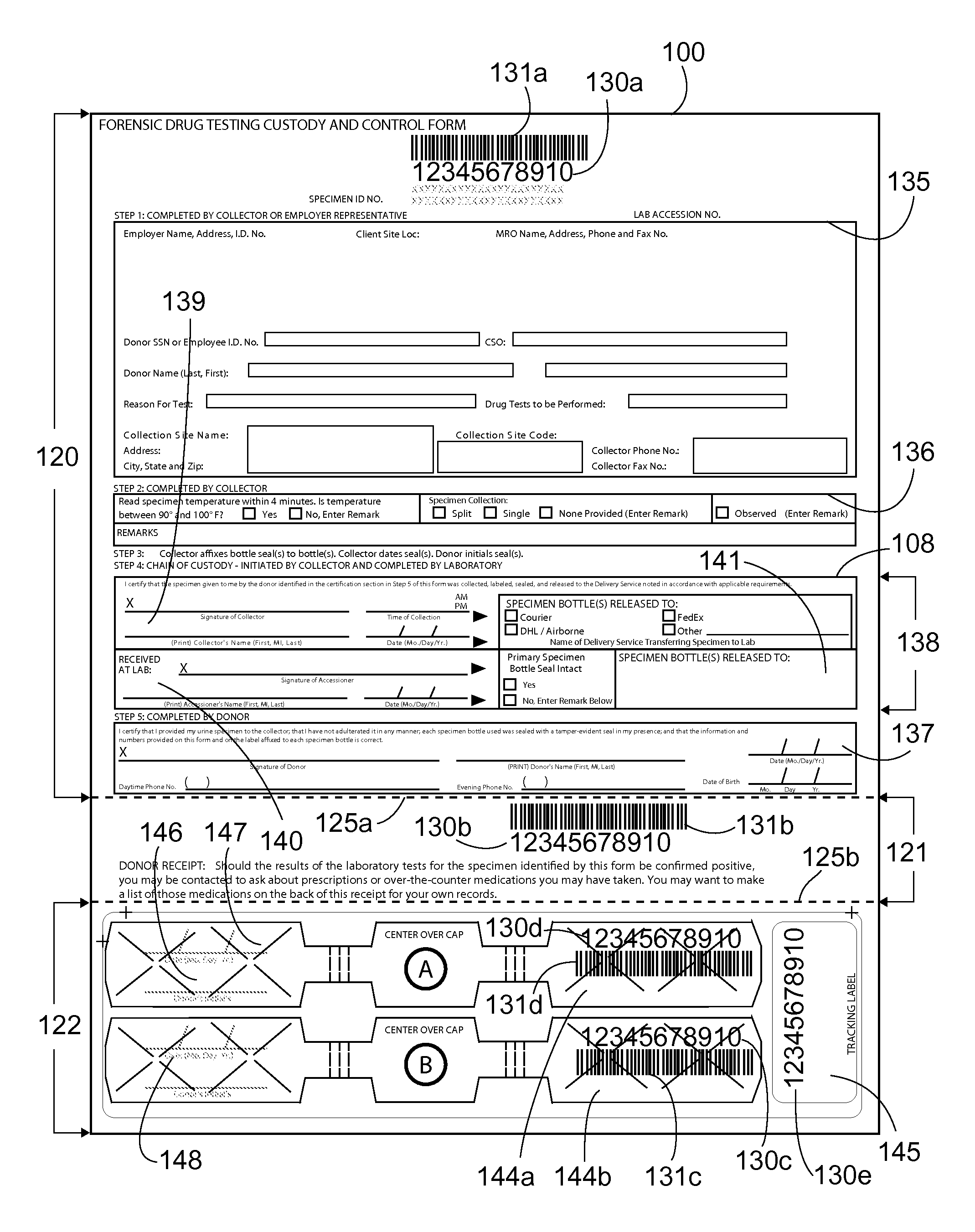 Patent US20090289448 - Chain of custody forms and methods - Google ...