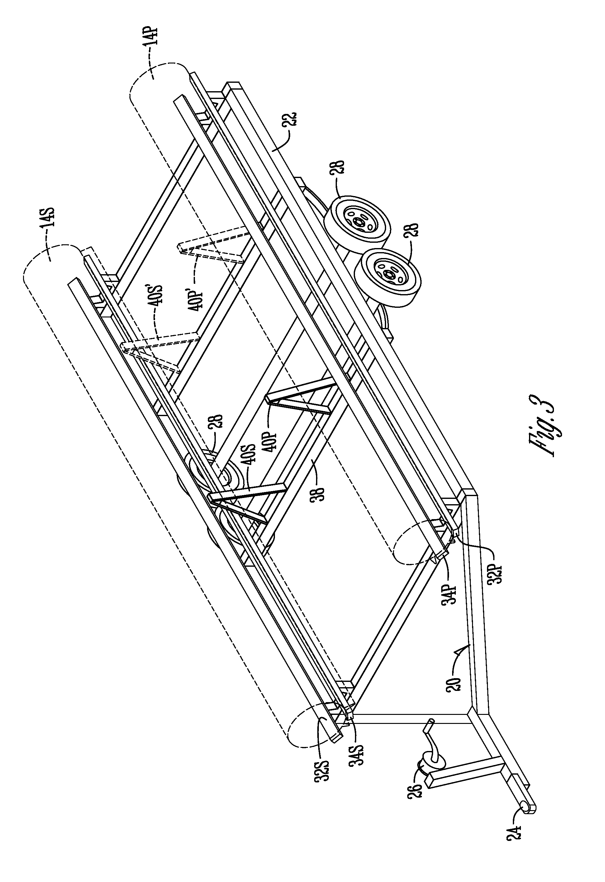 patent us20090297310 - pontoon boat trailer guide