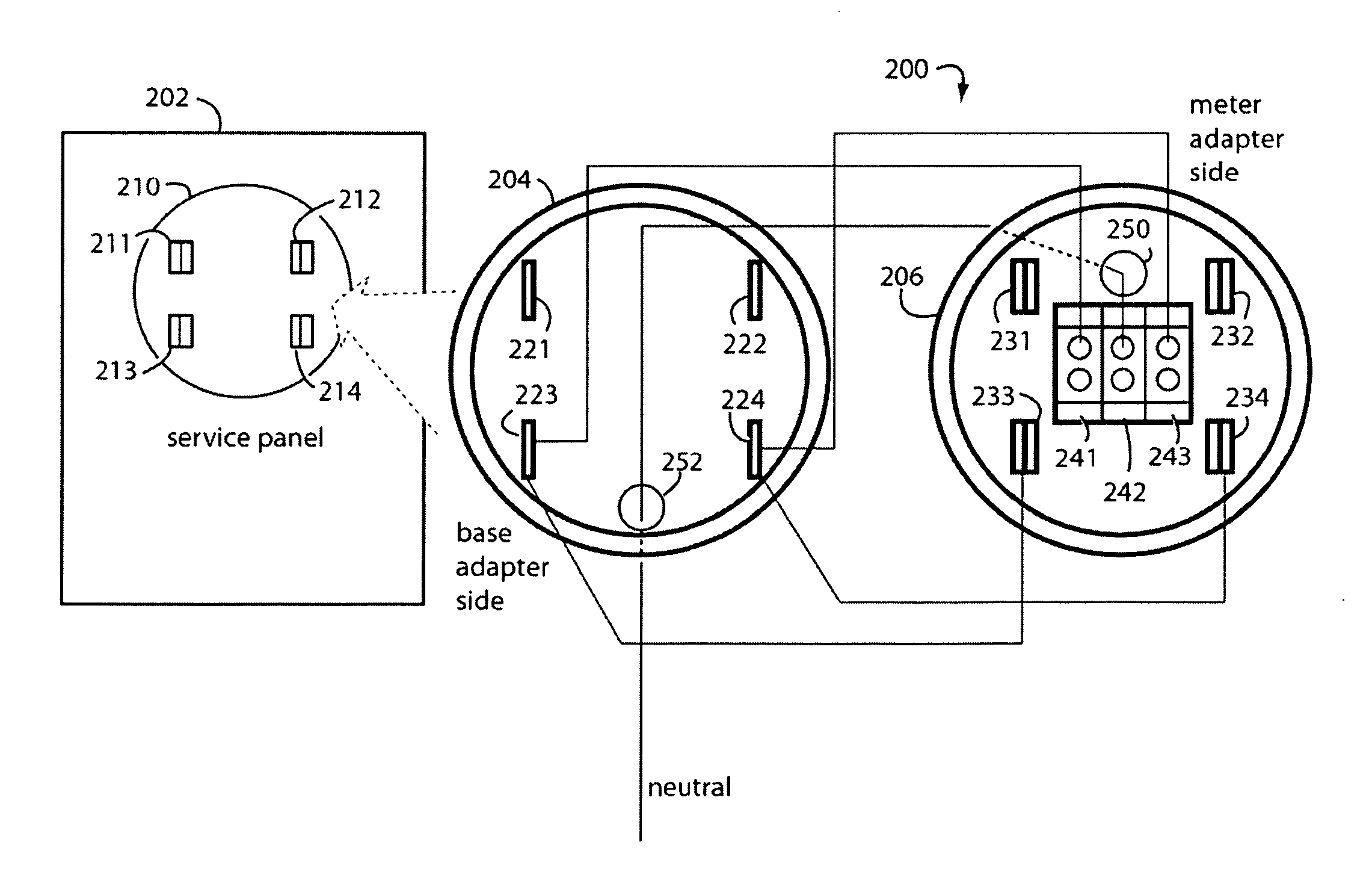 US20100003848A1 20100107 D00000 patent us20100003848 supply side backfeed meter socket adapter meter socket diagram at readyjetset.co