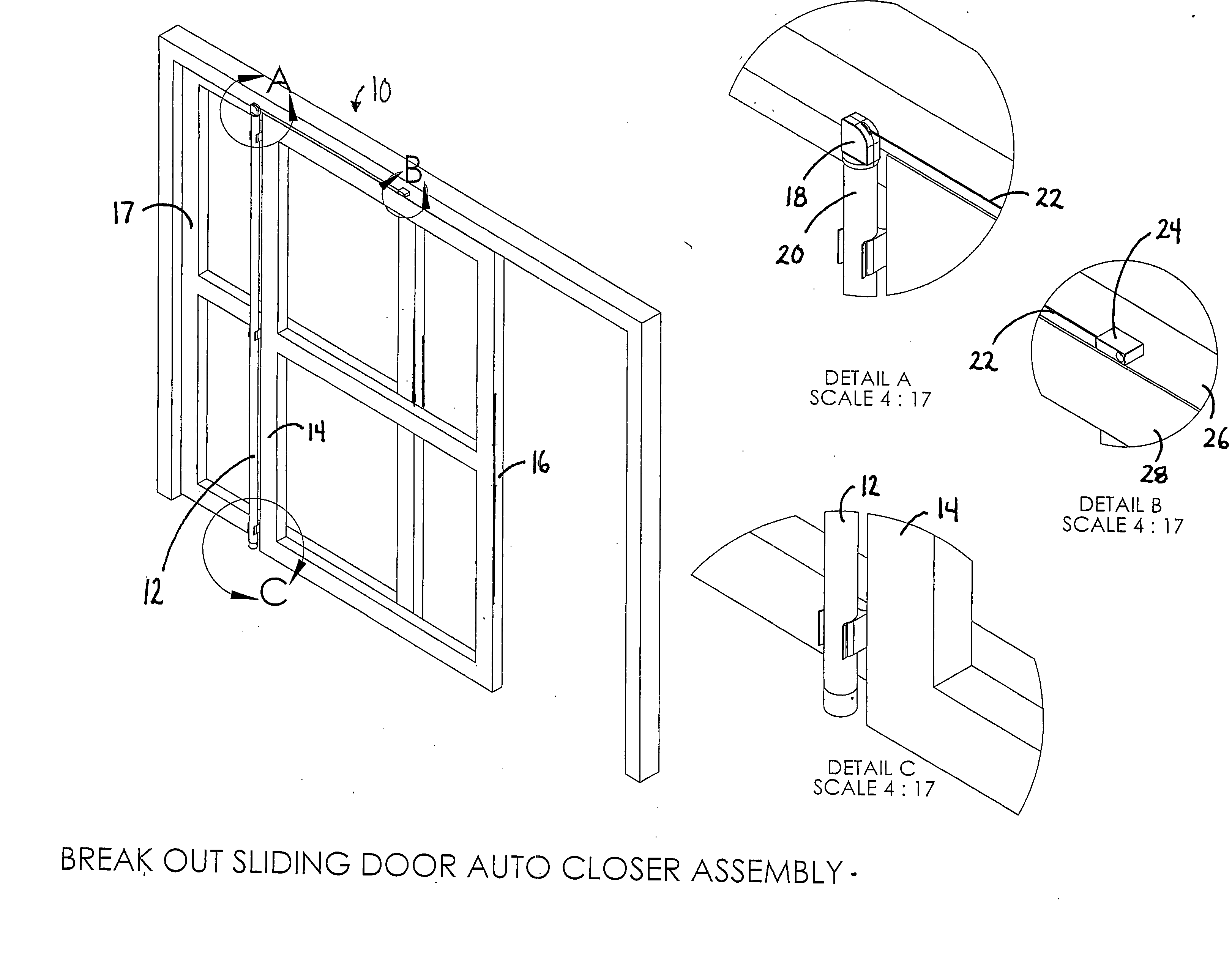 Patent us  automatic door closure for breakout