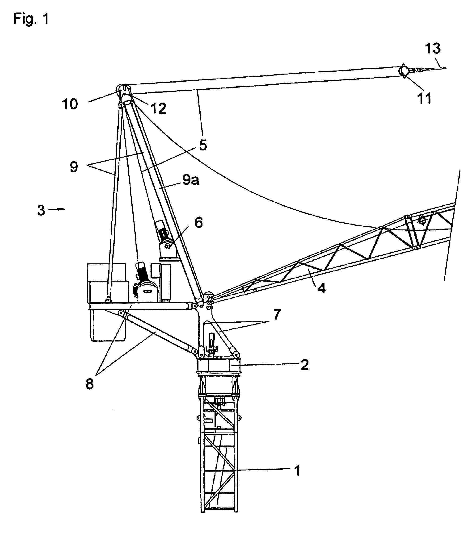 Tower Crane Inventor : Patent us  jib boom rotating tower crane