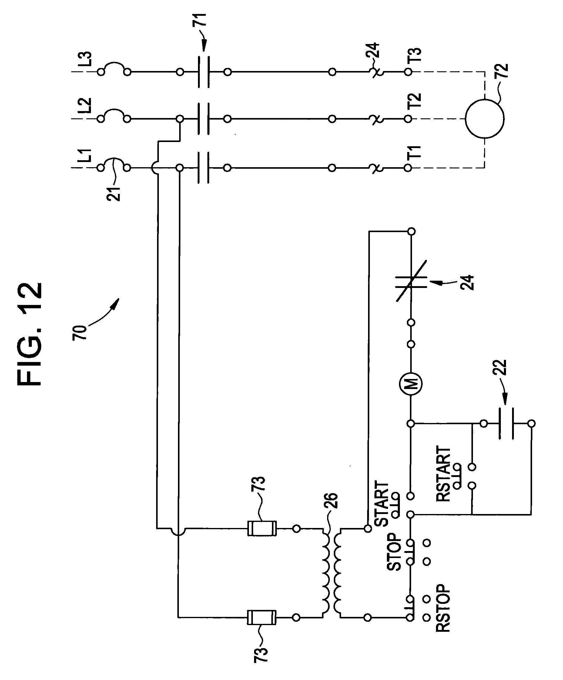 US20100085677A1 20100408 D00012 motor control circuits ladder logic electronics textbook Soft Start Circuit Diagram at eliteediting.co