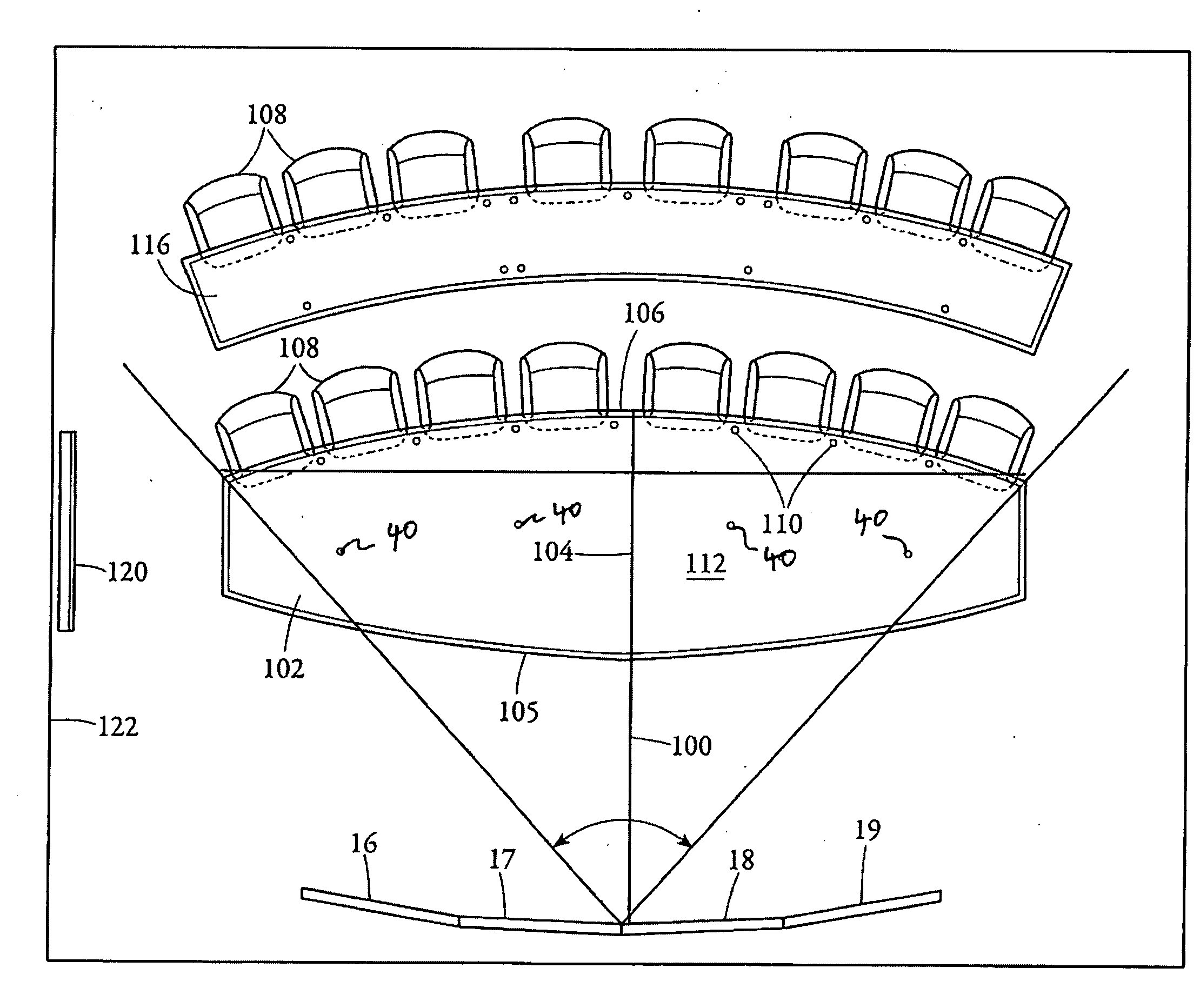 Patent us20100097441 telepresence conference room layout Draw room layout