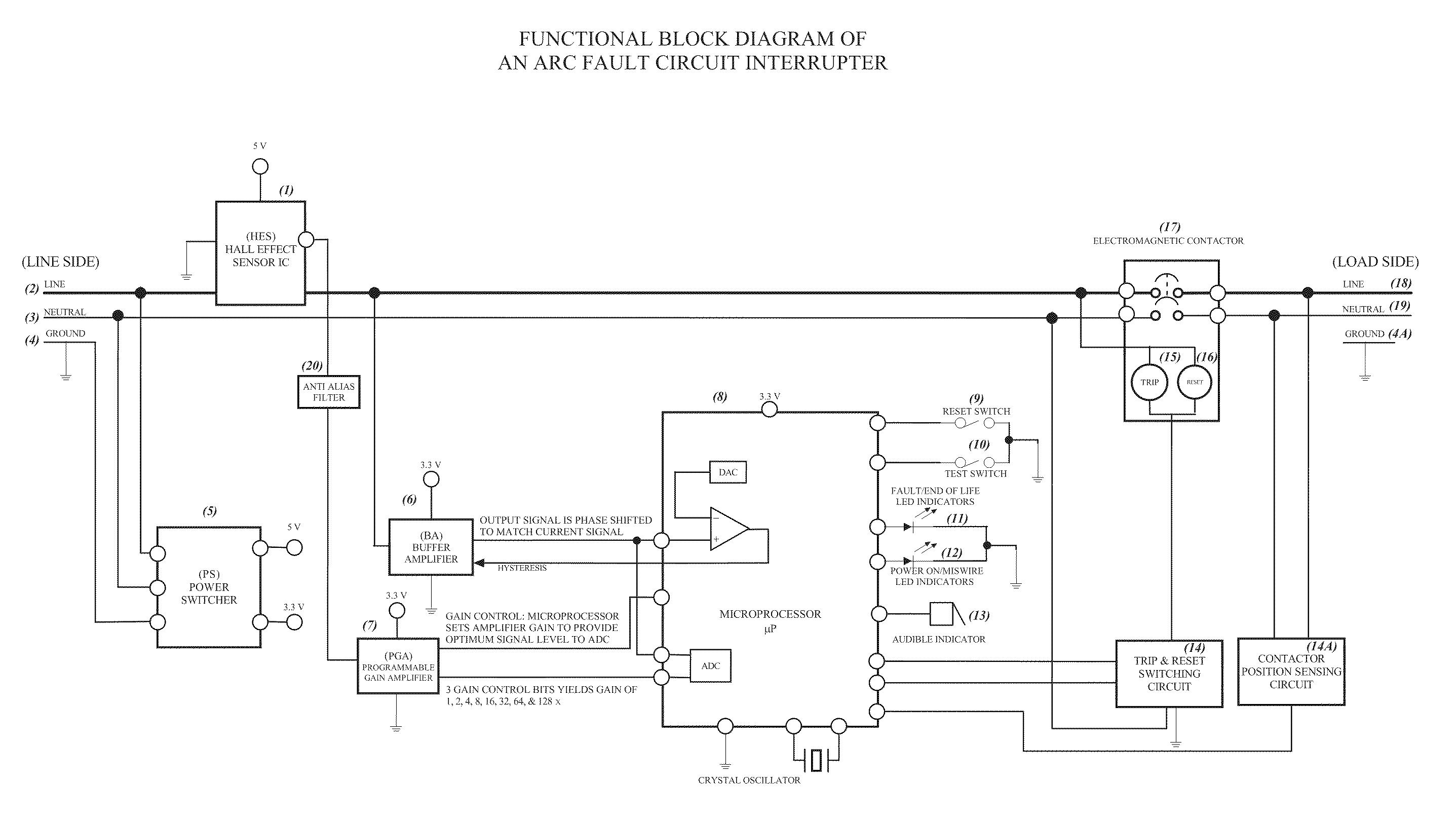 Afci Wiring Methods Diagrams Outlet Diagram Patent Us20100097733 Arc Fault Circuit Interrupter Breaker Square D
