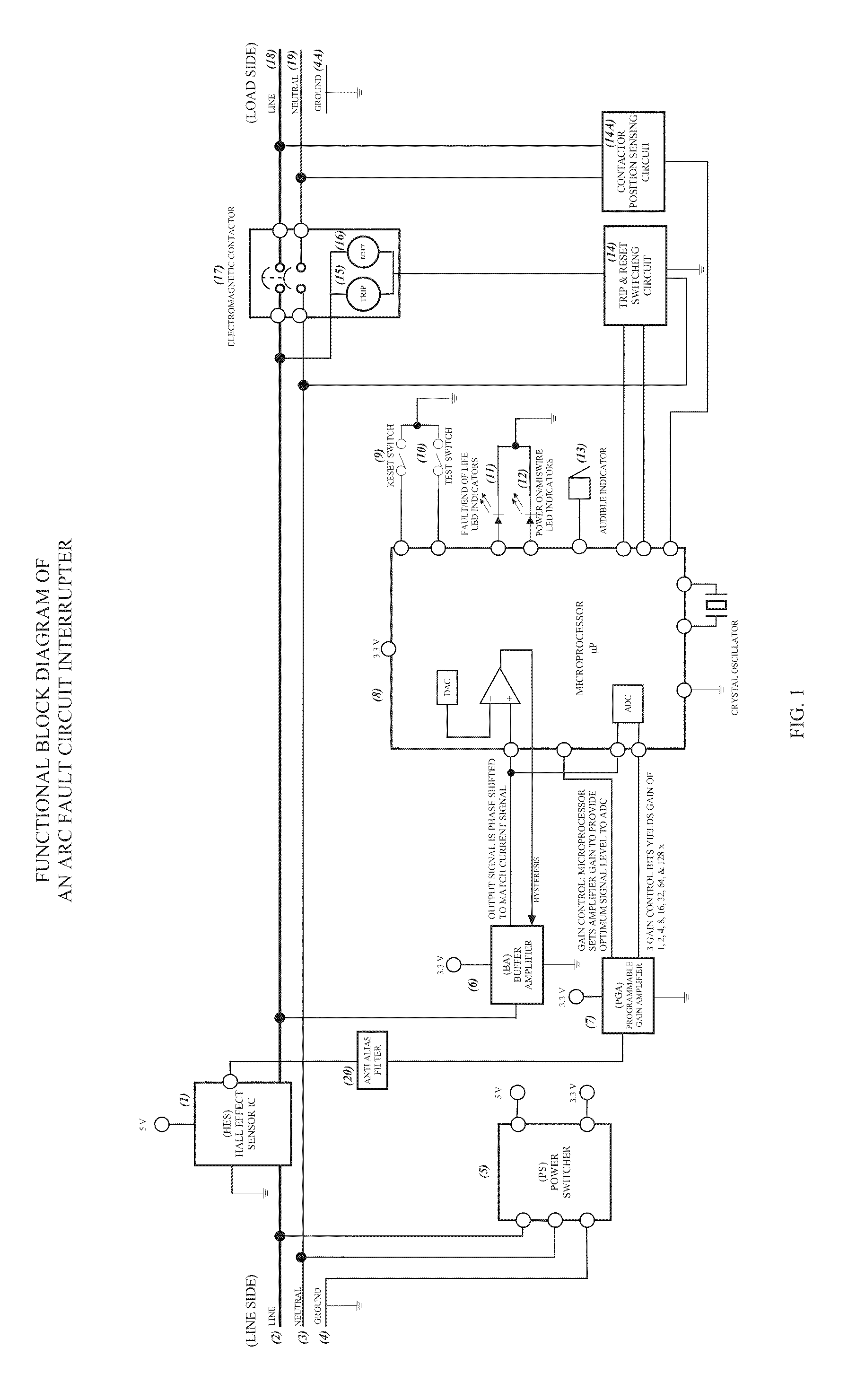 Patent Us20100097733 Arc Fault Circuit Interrupter Systems Or Afci Fundamentals Drawing