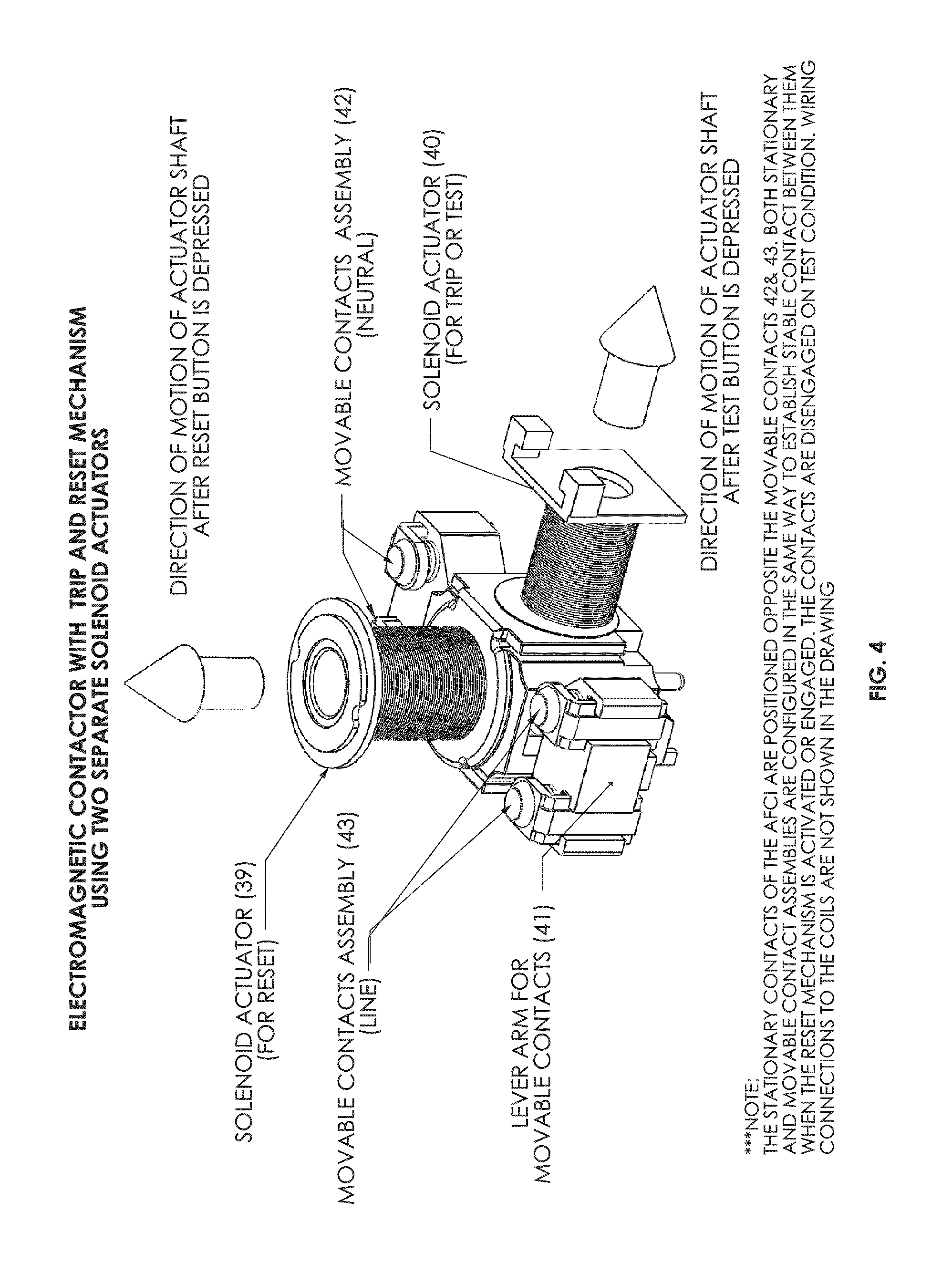 Arc Fault Circuit Interrupter Tripping Guide And Troubleshooting Breakers Patent Us20100097733 Afci Breaker