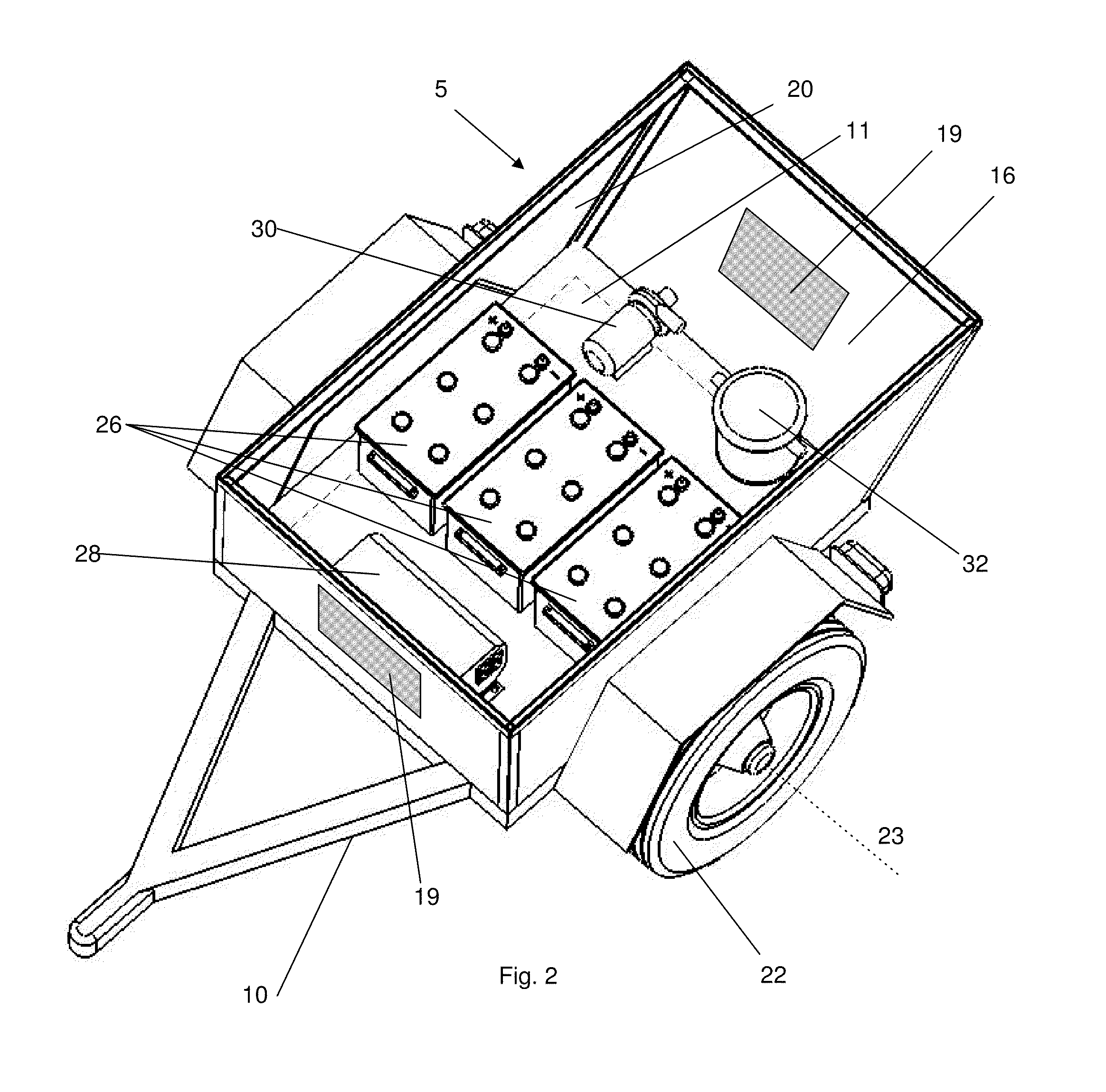 Patent US Portable solar electrical generator and