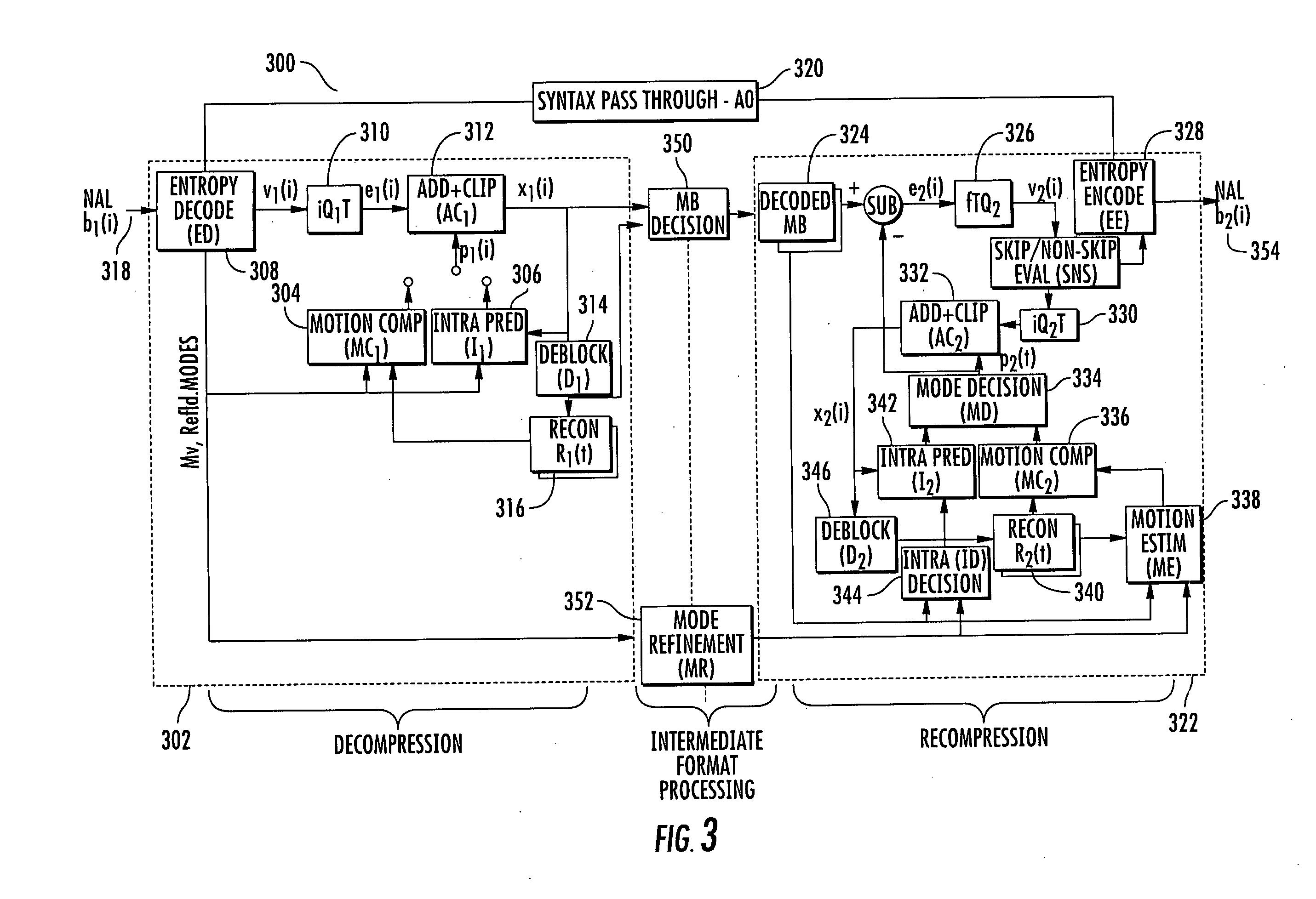 Patent Us20100118982 Method And Apparatus For Transrating H 264 Decoder Block Diagram Drawing