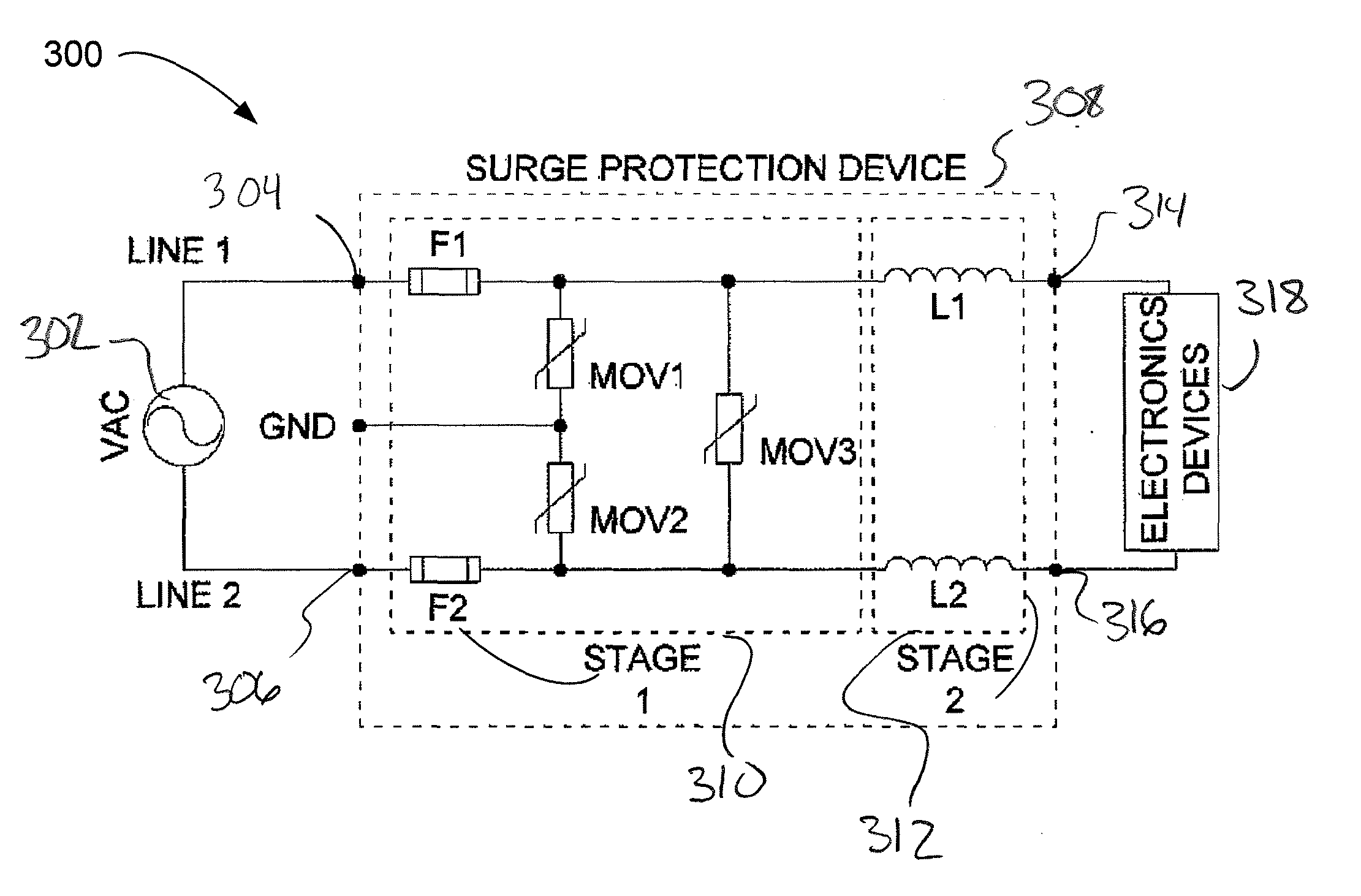 patent us20100127625 surge protection module for luminaires and patent drawing