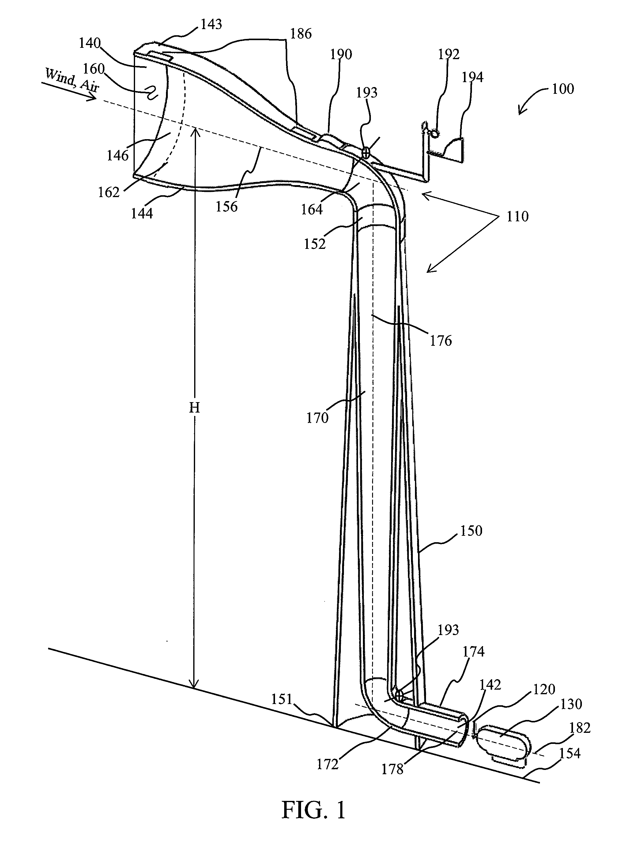 Patent US Turbine intake tower for wind energy