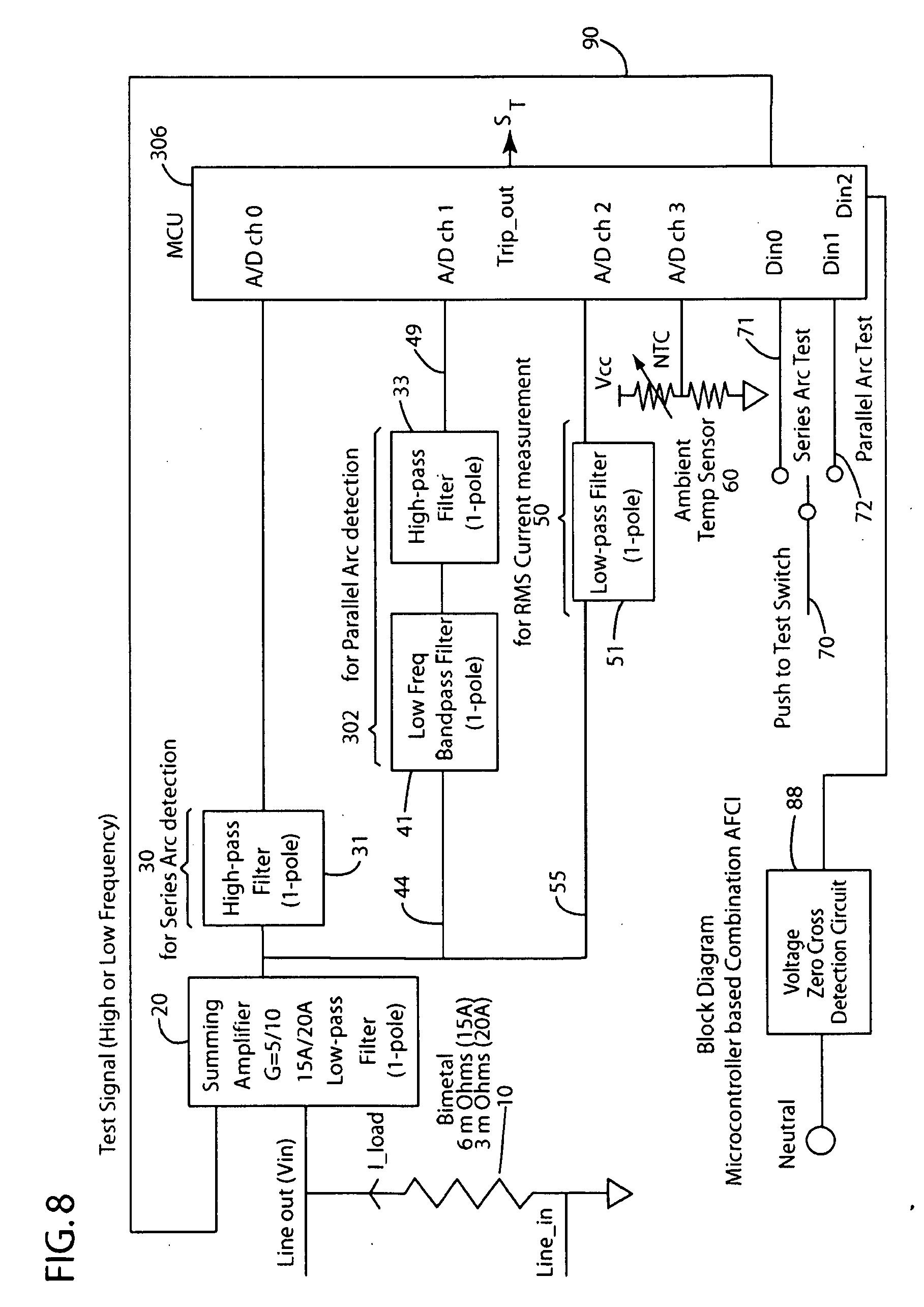 Patent Us20100165521 Parallel Arc Detection Using Discrete Wavelet Pass Seymour Arcfault Circuit Interrupter Afci Drawing
