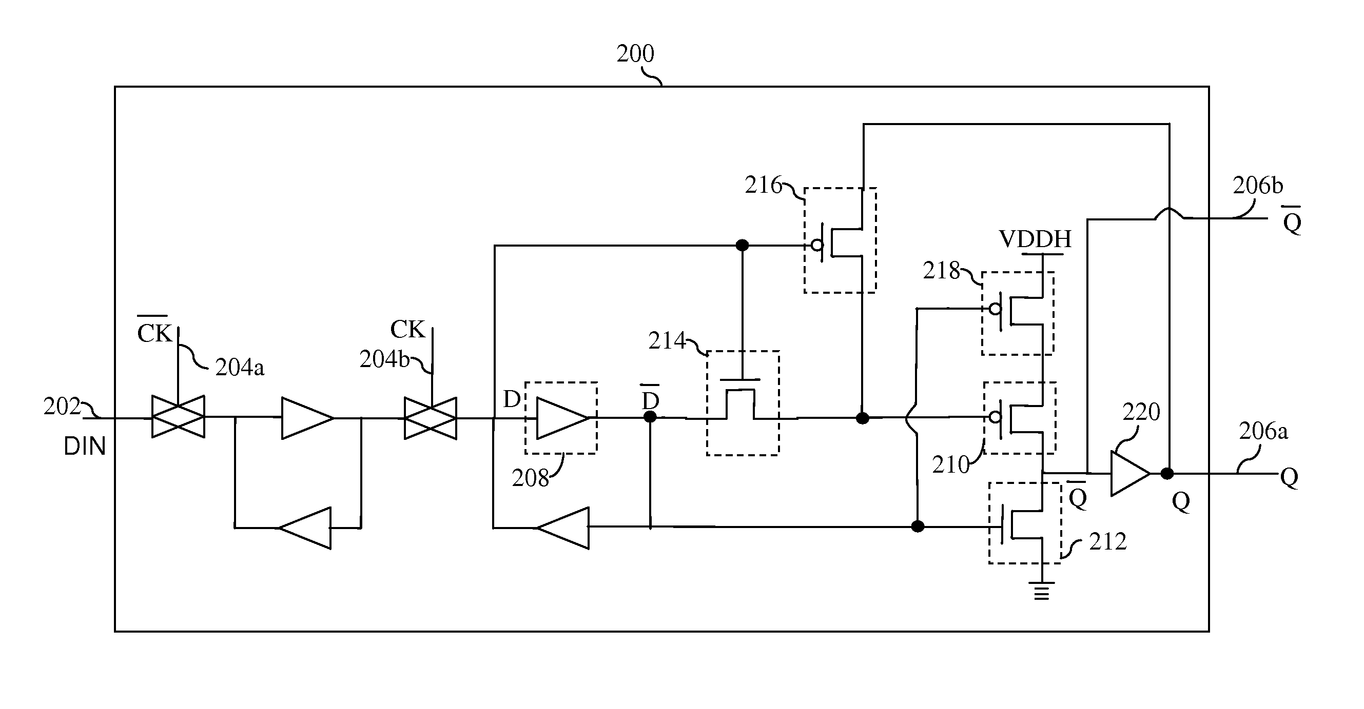 Patent Us20100182063 Flip Flop Circuit With Internal Level Shifter Bistable Drawing