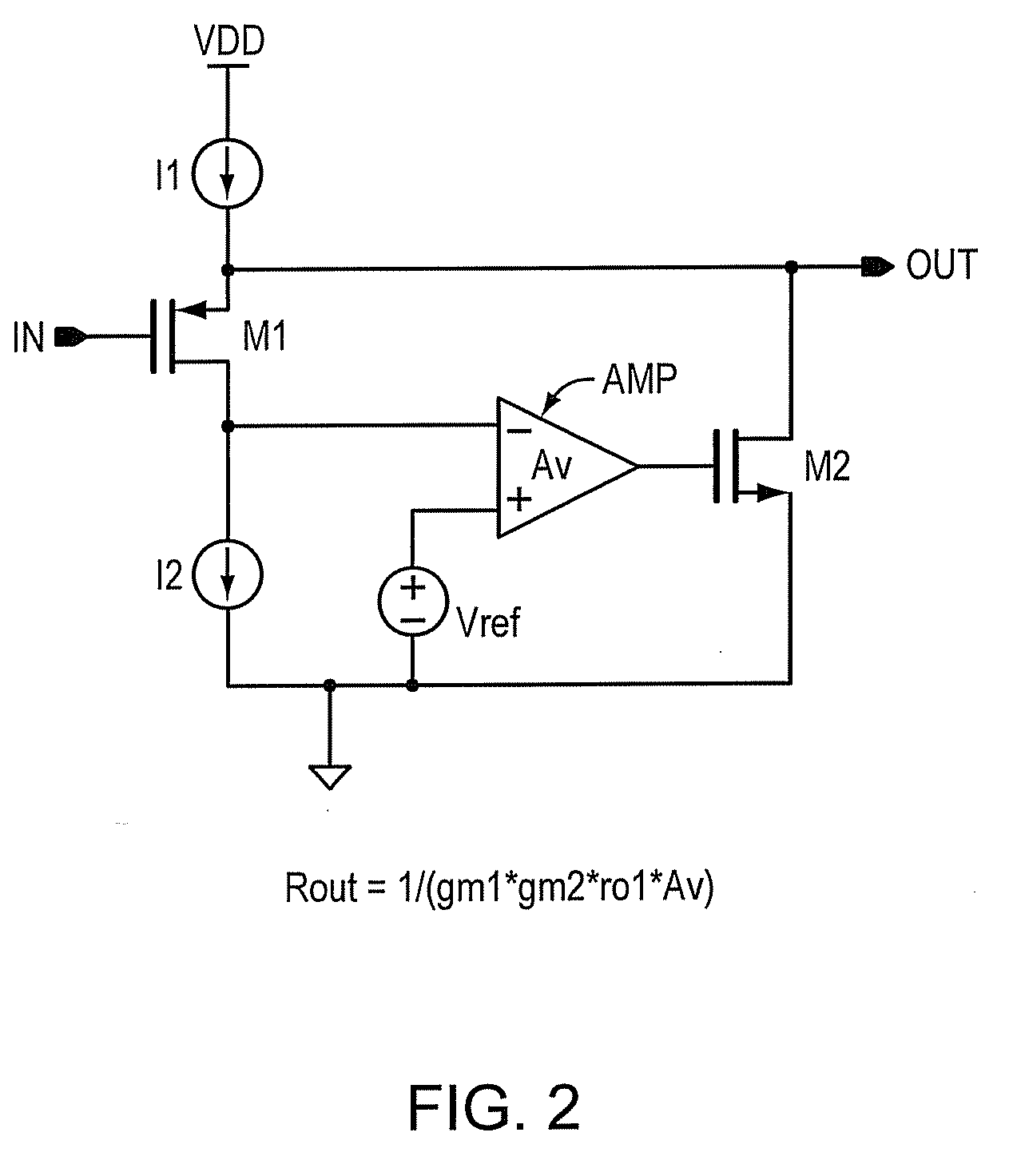 patent us20100182086 - super source follower output impedance enhancement