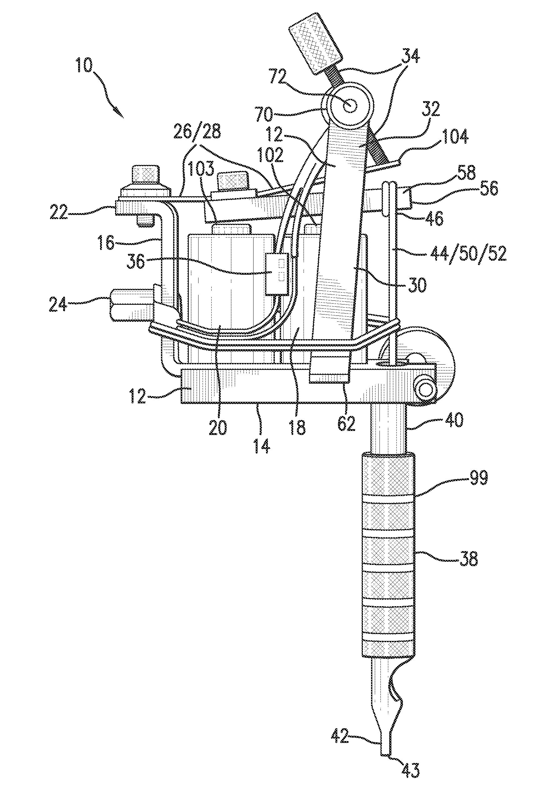 patent us20100192730 control device for a tattoo machine and  : tattoo gun diagram - findchart.co