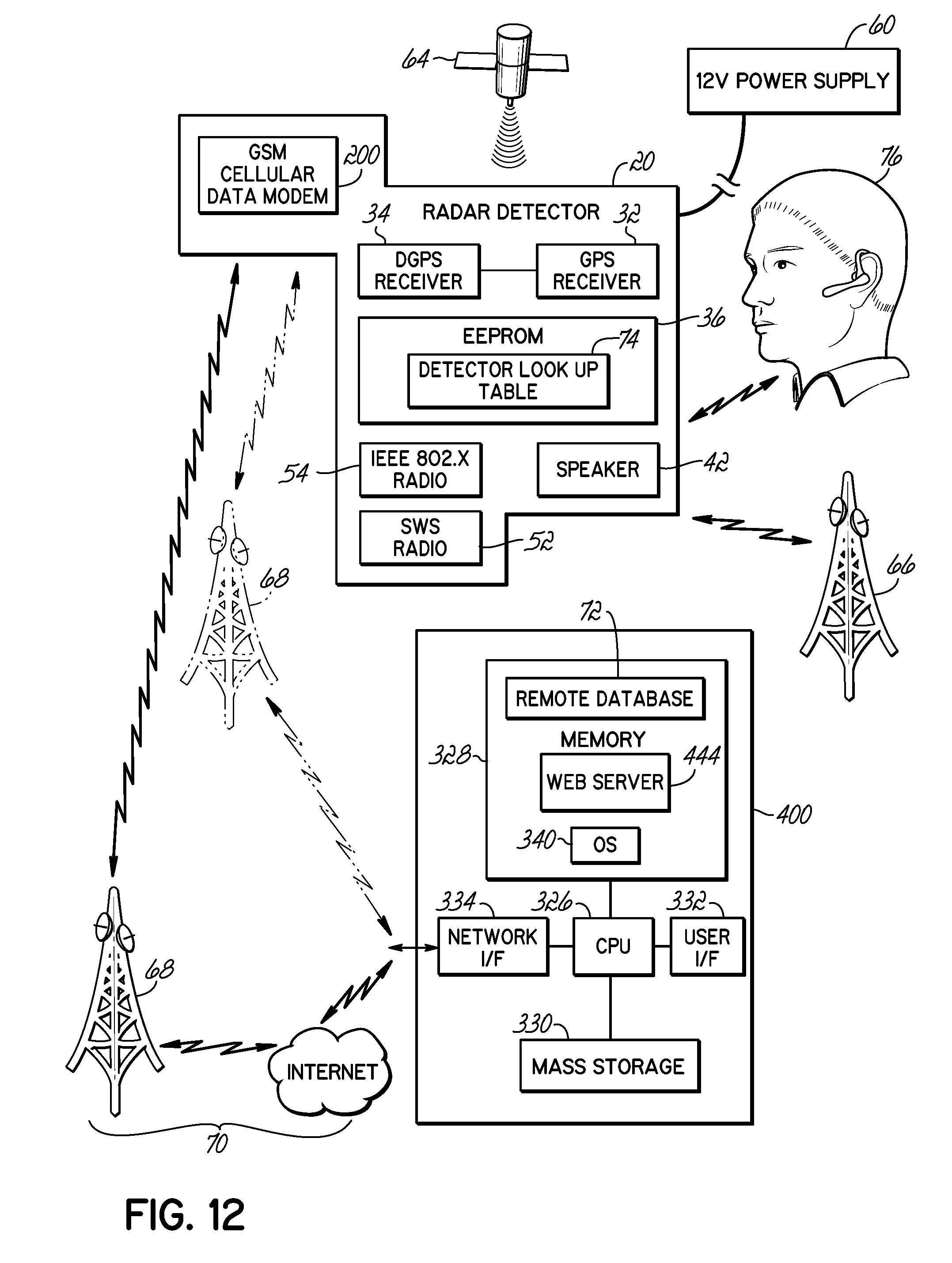 patent us20100214149 - wireless connectivity in a radar detector