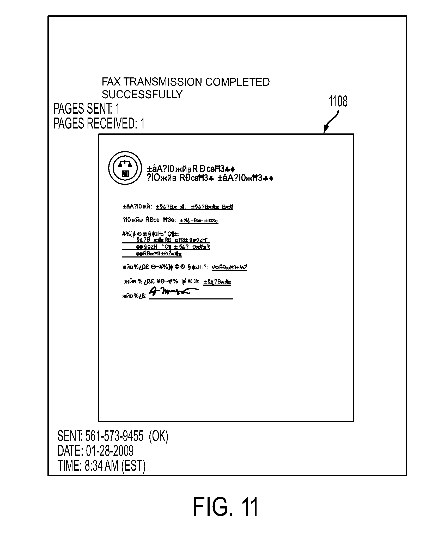 patent us method for protecting content of a fax patent drawing