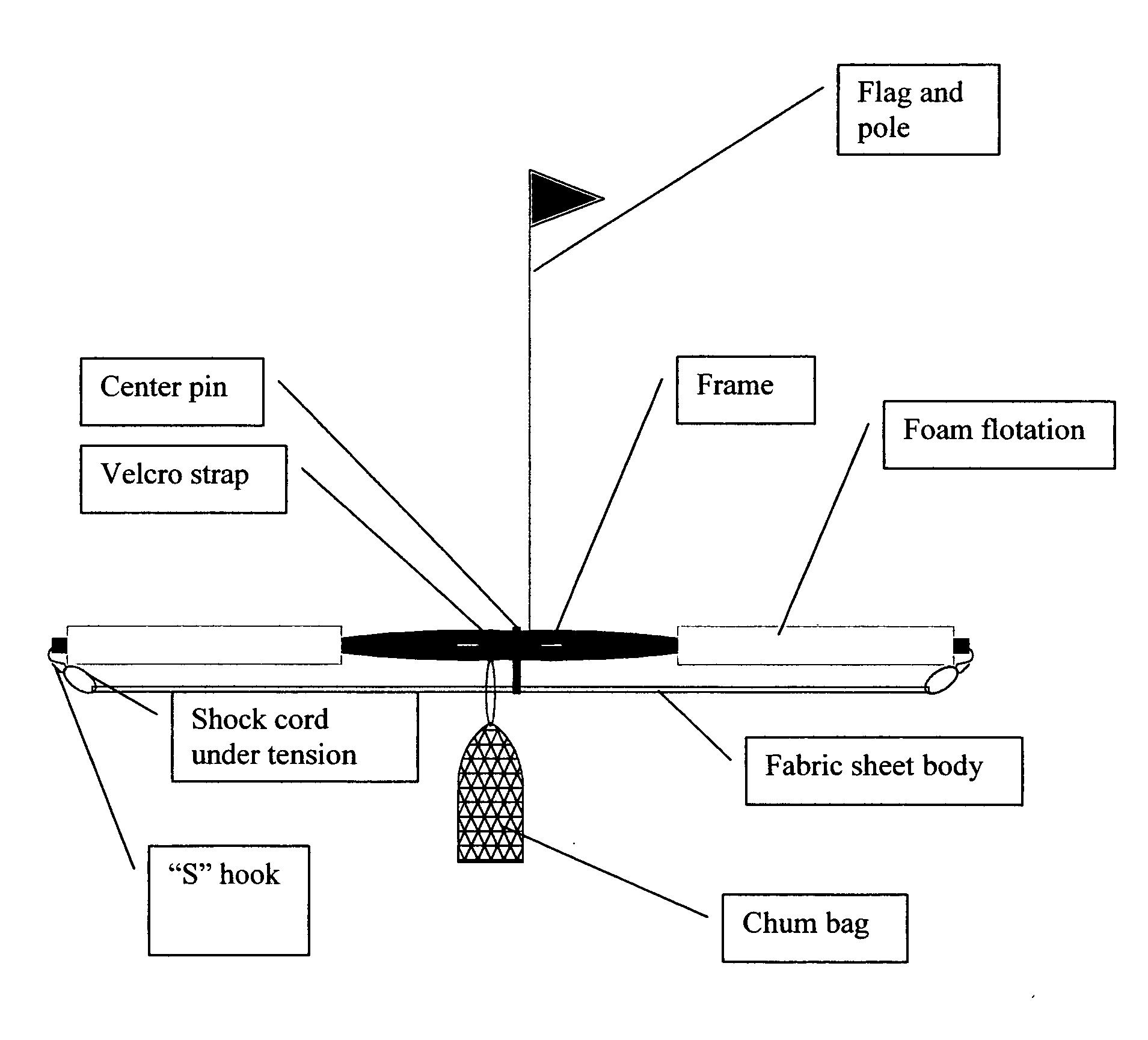 Patent Us20100229457 Fish Magnet Portable Fad Fish