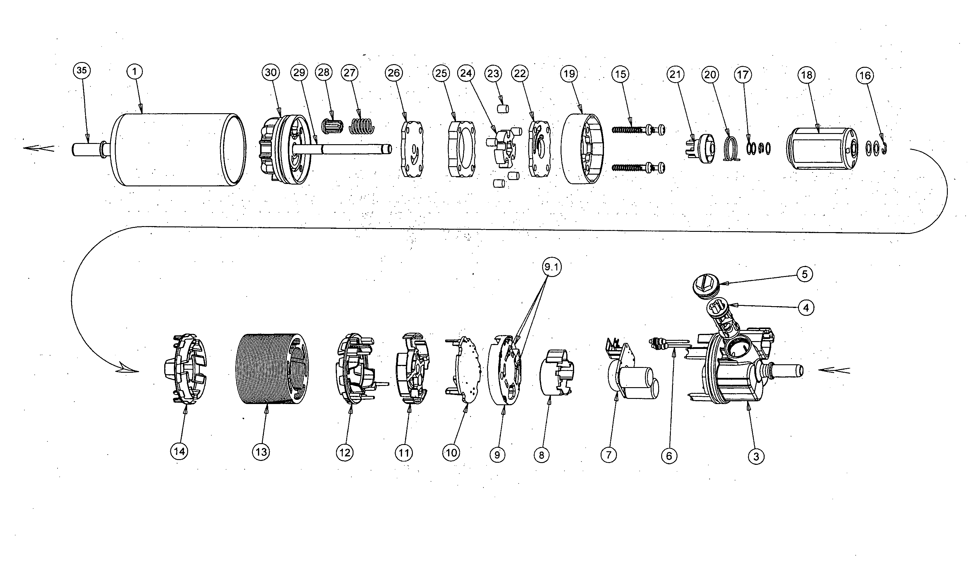 patent us20100229835 - novelty in electric fuel pumps for internal combustion engines