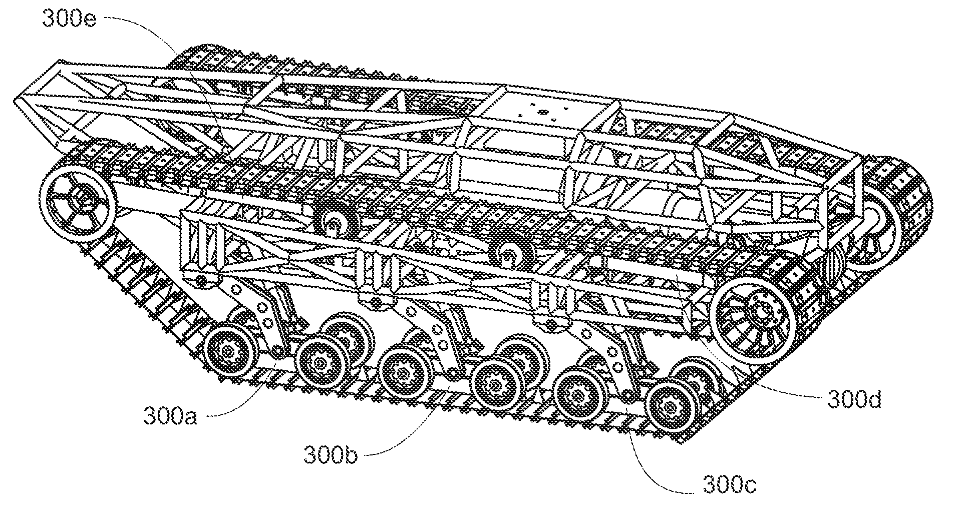 Patent us20100236844 fast tracked ground vehicle for Suspension design