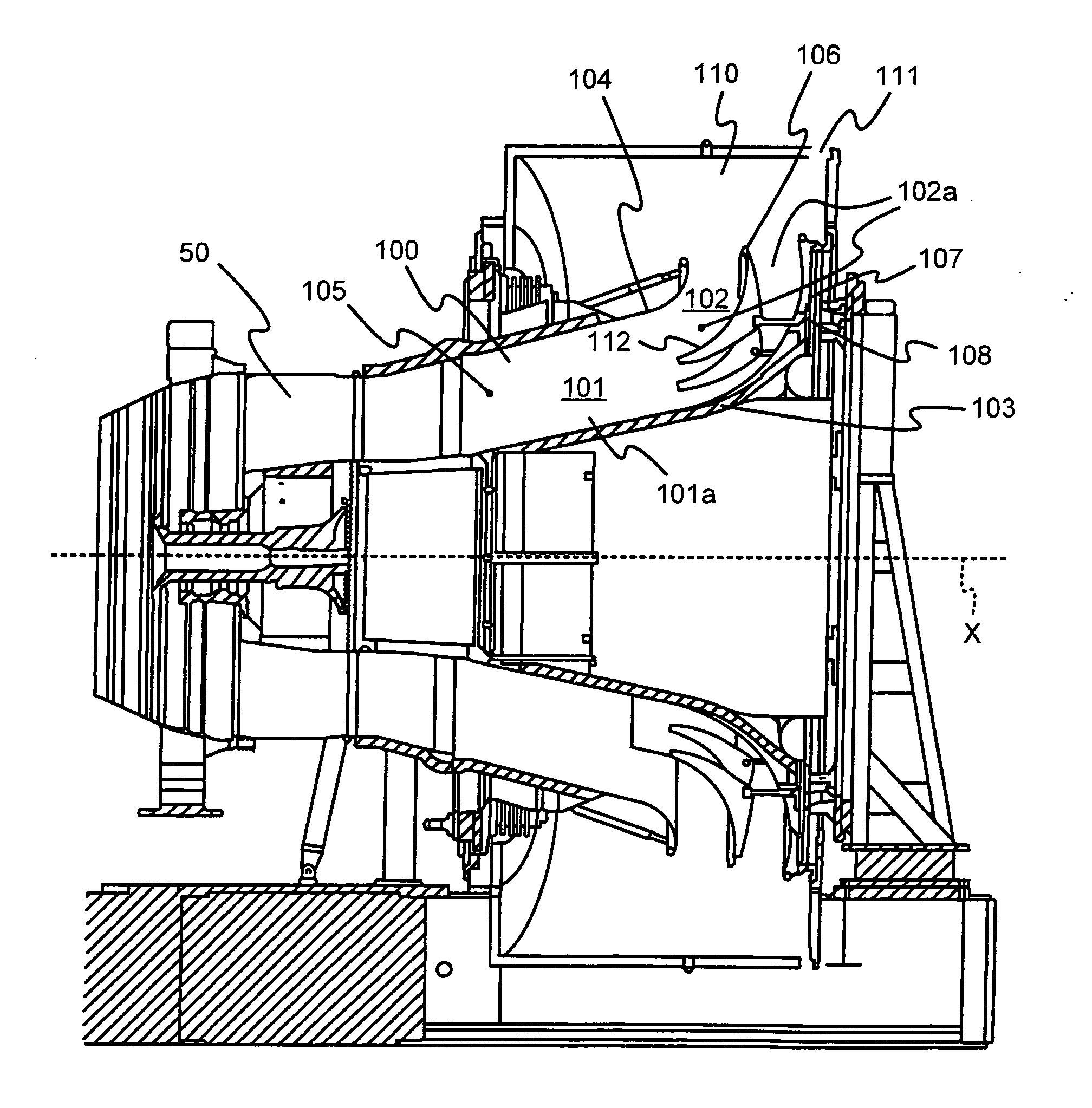 Patent US Gas turbine exhaust diffuser Google Patents