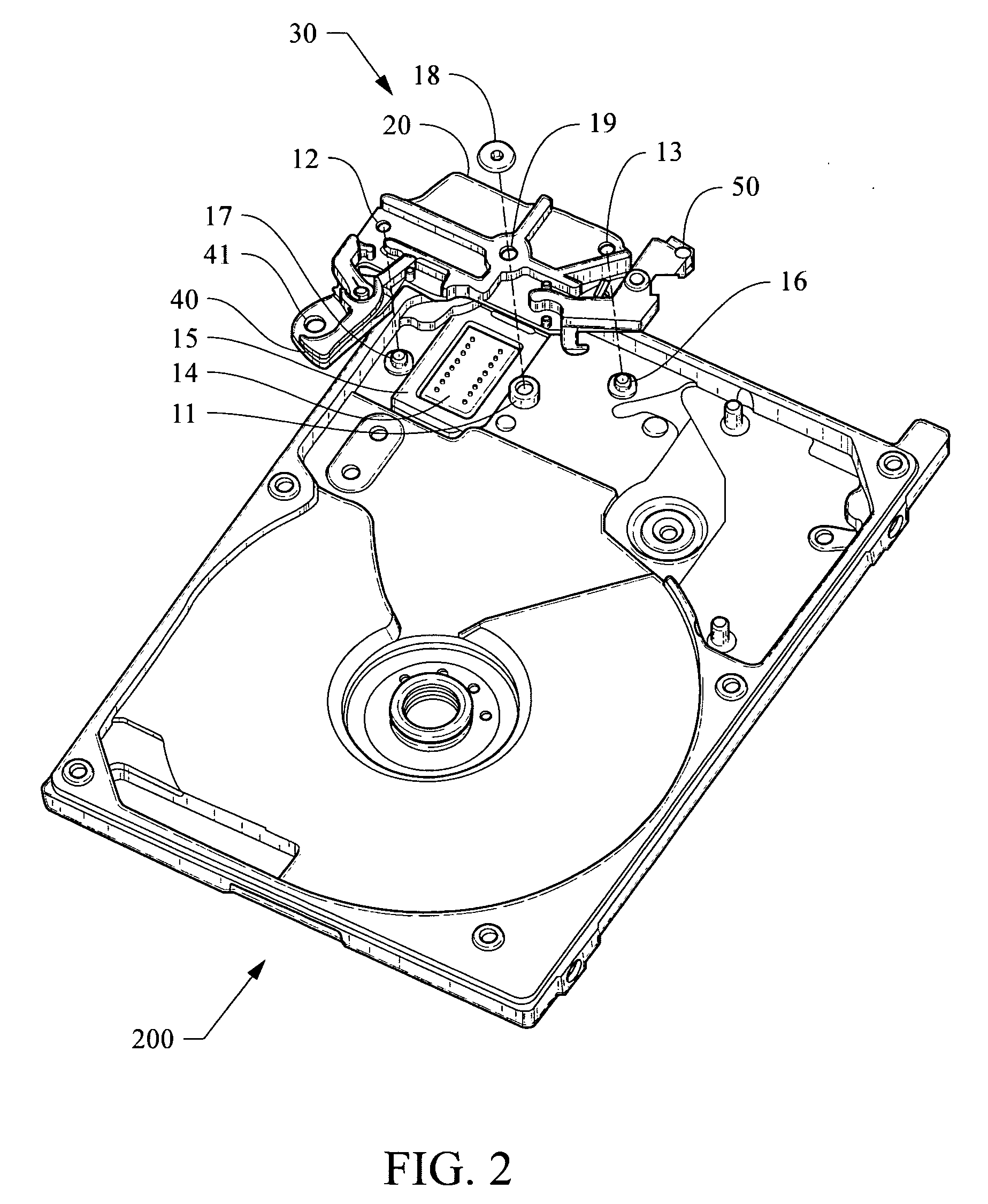 patent us20100296198 - sub-assembly for a hard disc drive