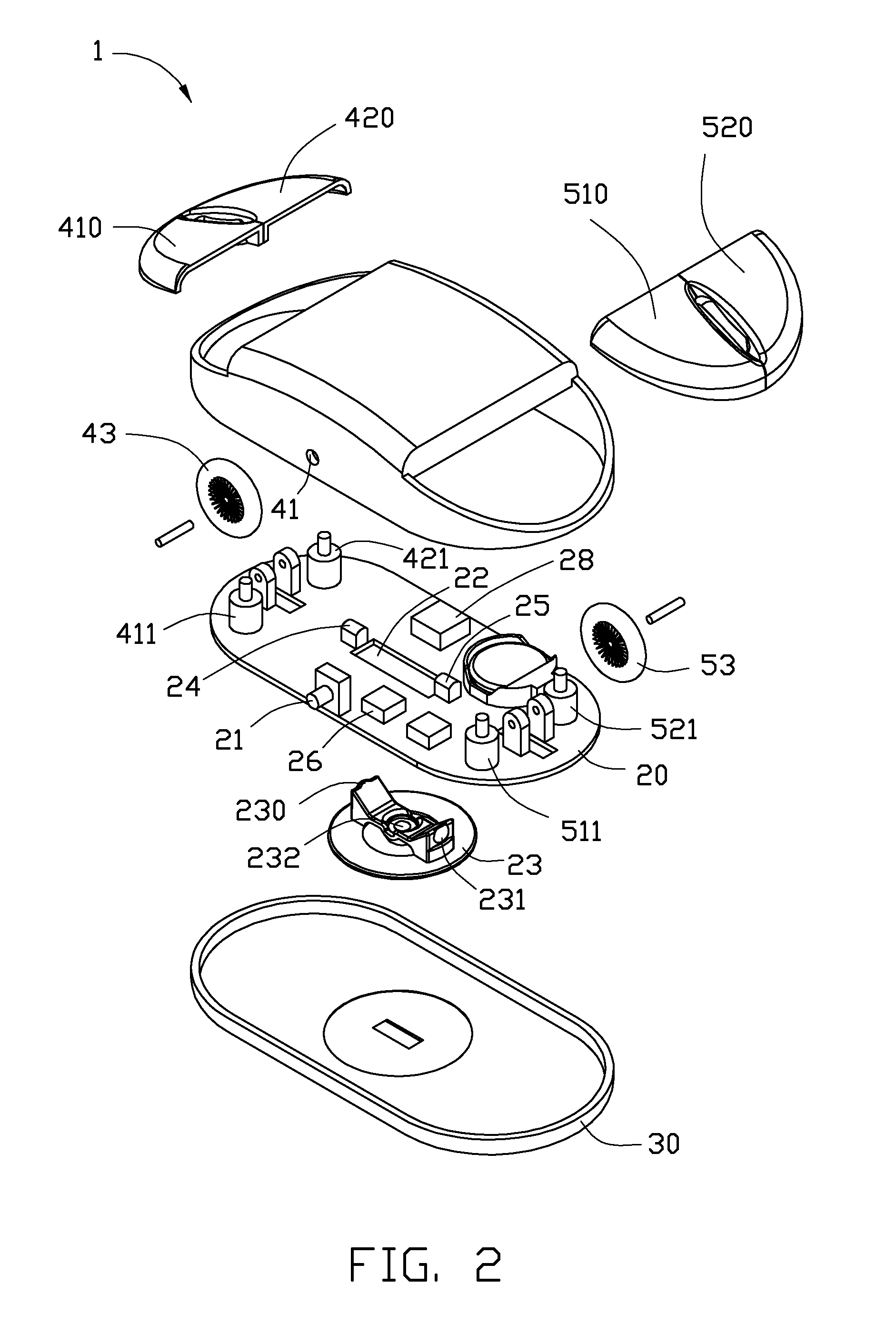 patent us20100309128 - computer mouse