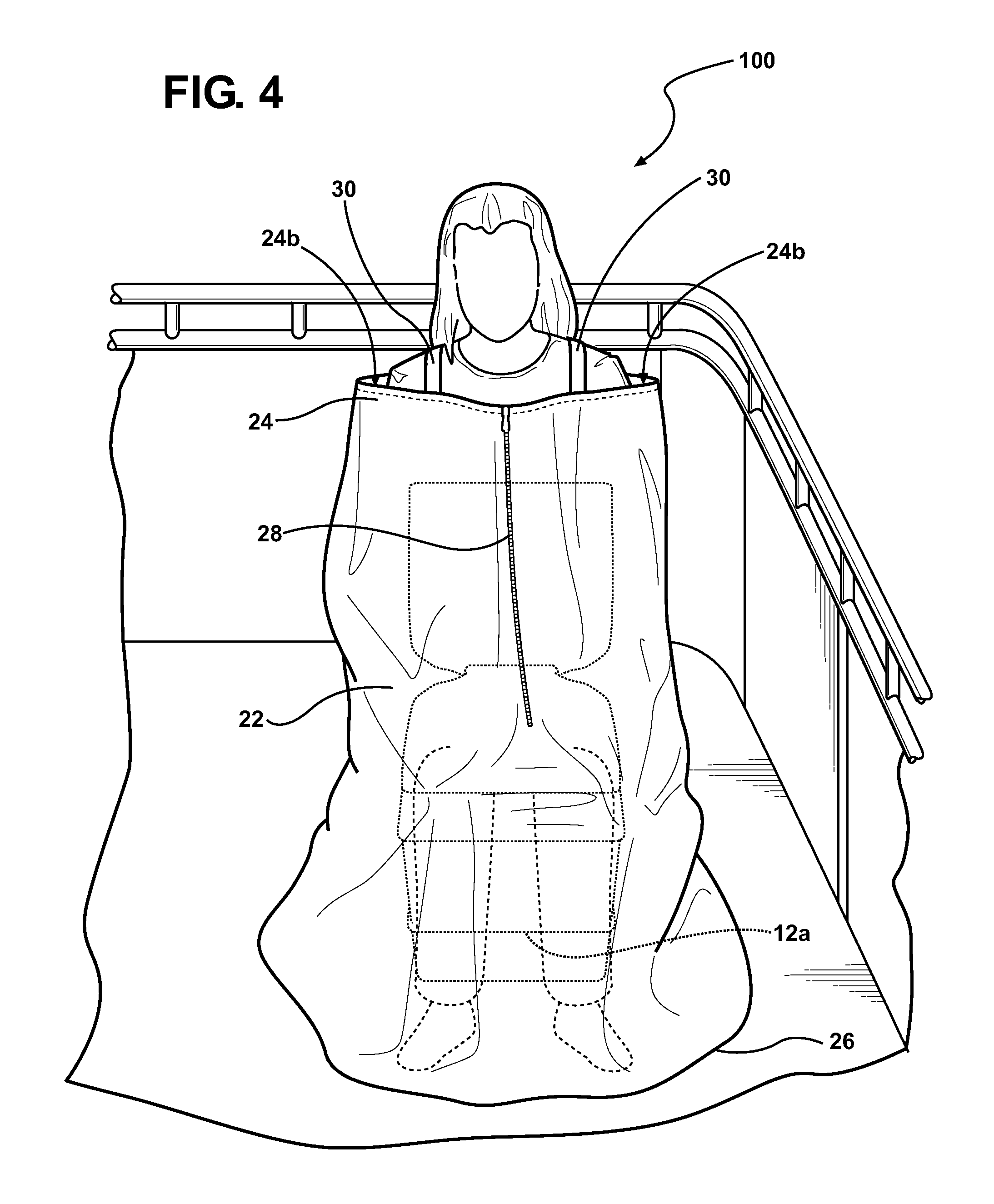 Portable privacy curtains - Patent Drawing