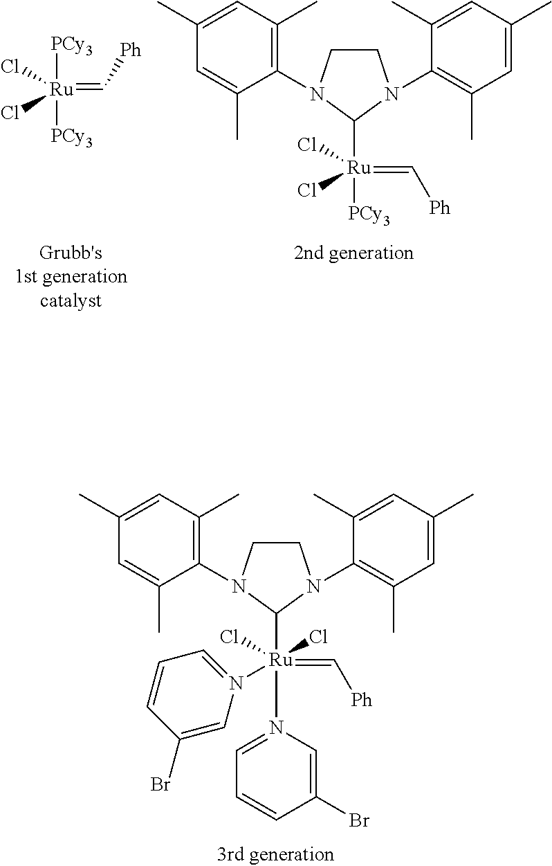 fluorescence labeled olefin metathesis polymerization initiators Structure, and activity of enhanced initiators for olefin metathesis data (labeled drawings, table ring-opening metathesis polymerization.