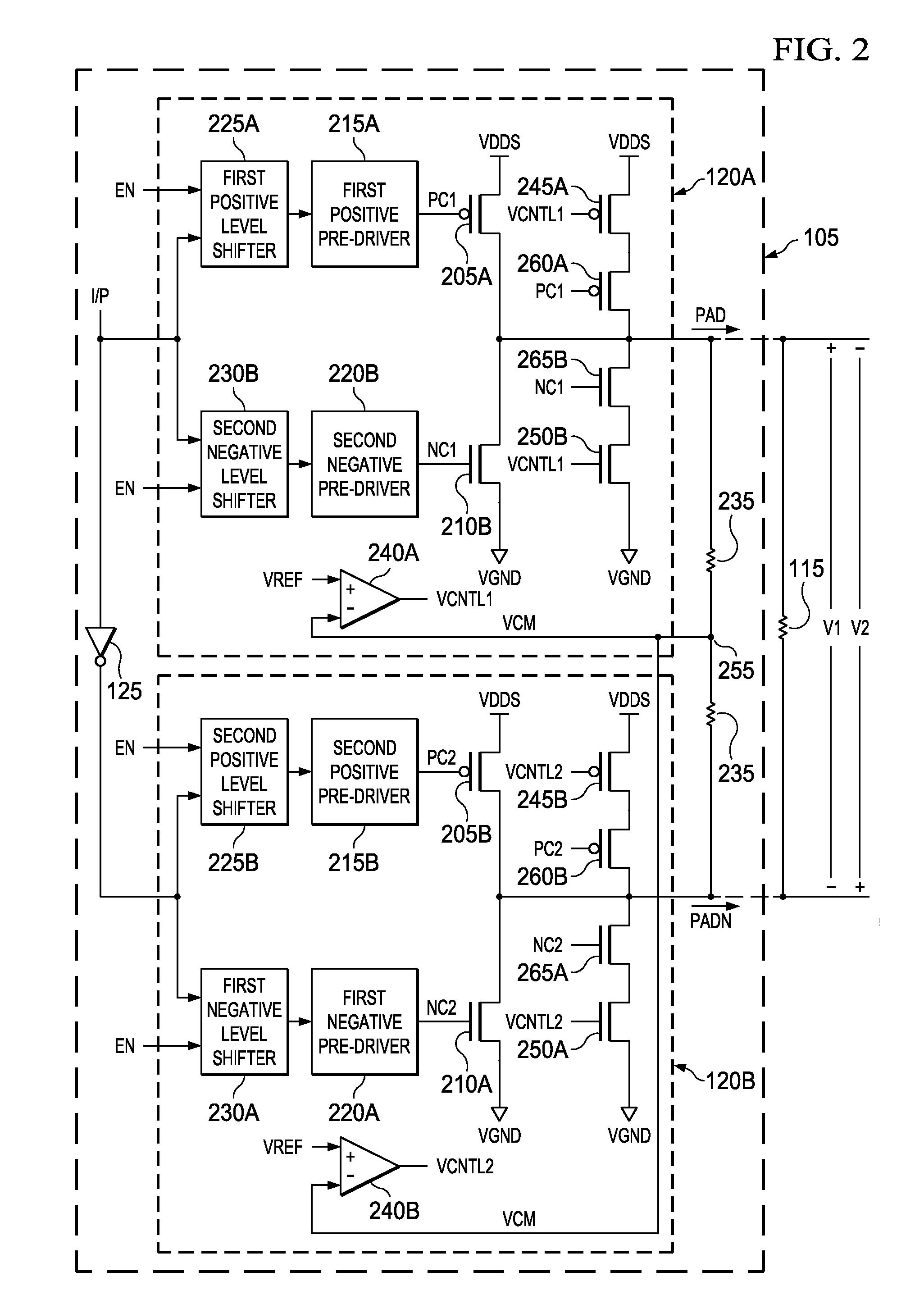 bus low voltage differential signaling (blvds) circuit