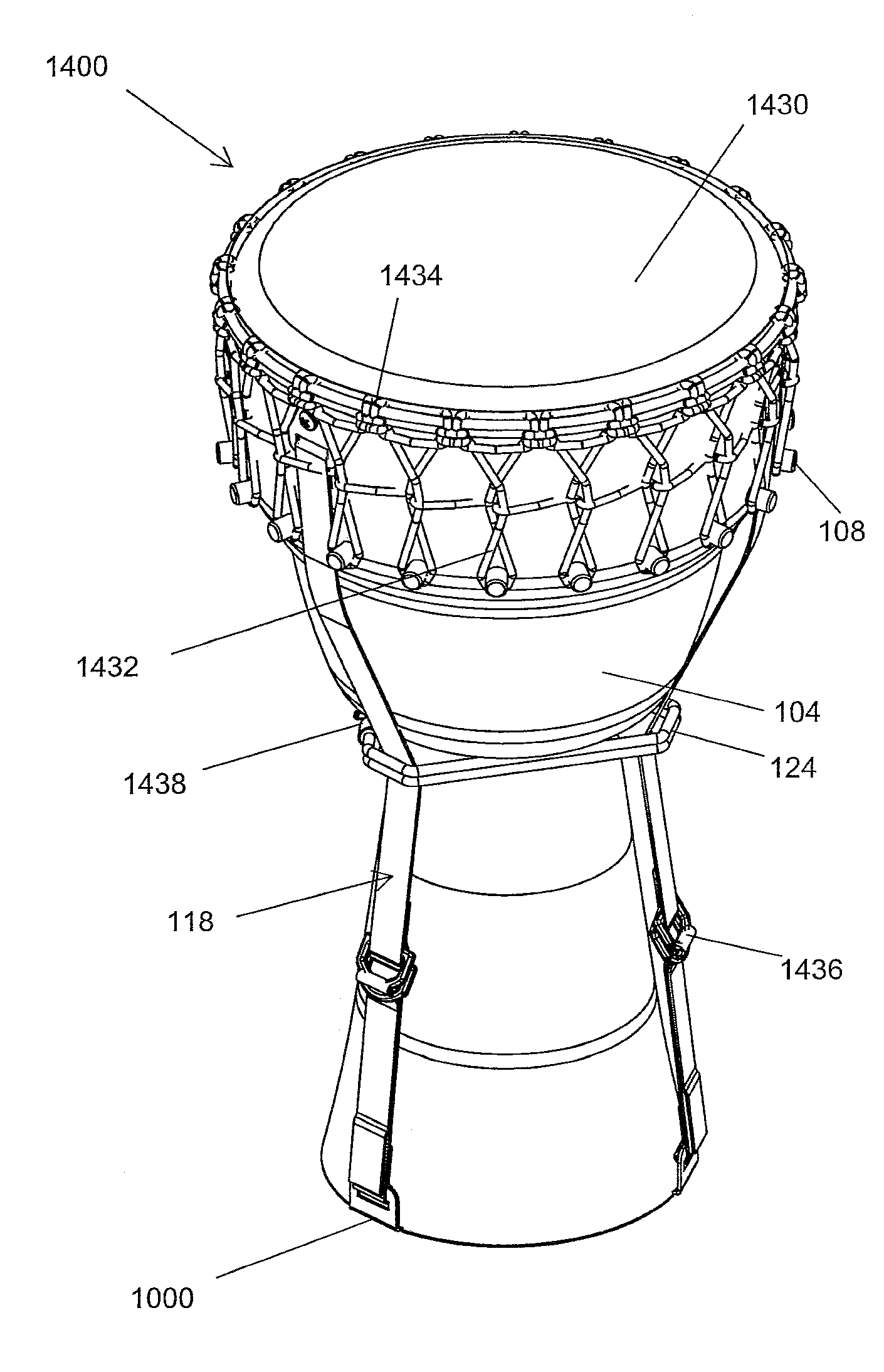 patent us20110017045 - portable drum
