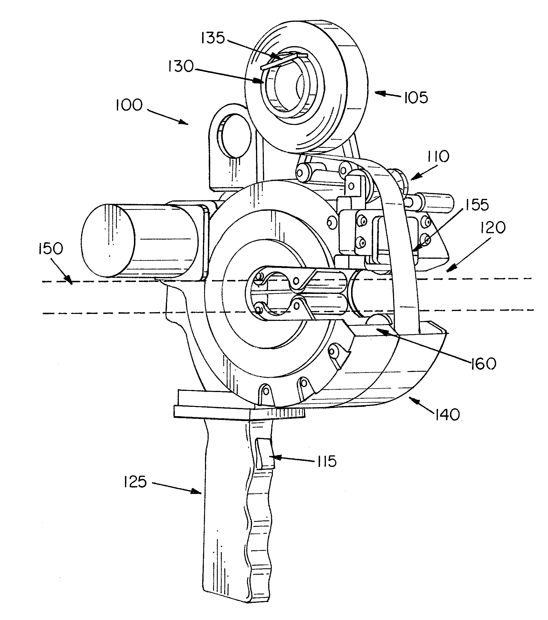 Patent Us20110017392 Mechatronic Gun For Taping A Harness Google Wire Bundle Drawing