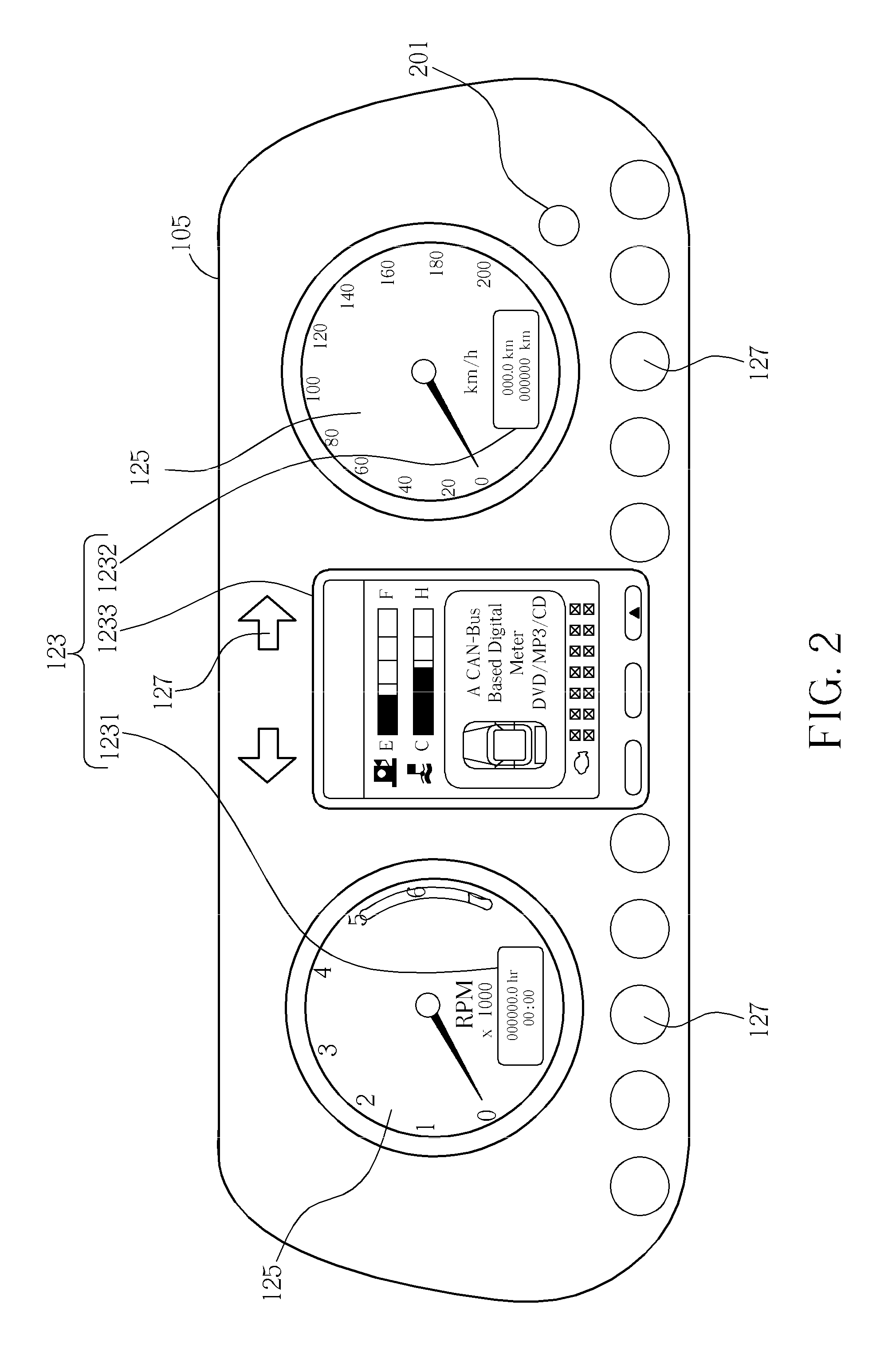 patent us20110072123 auto meter system with controller area Auto Meter Tach Wiring Diagram Wires patent drawing