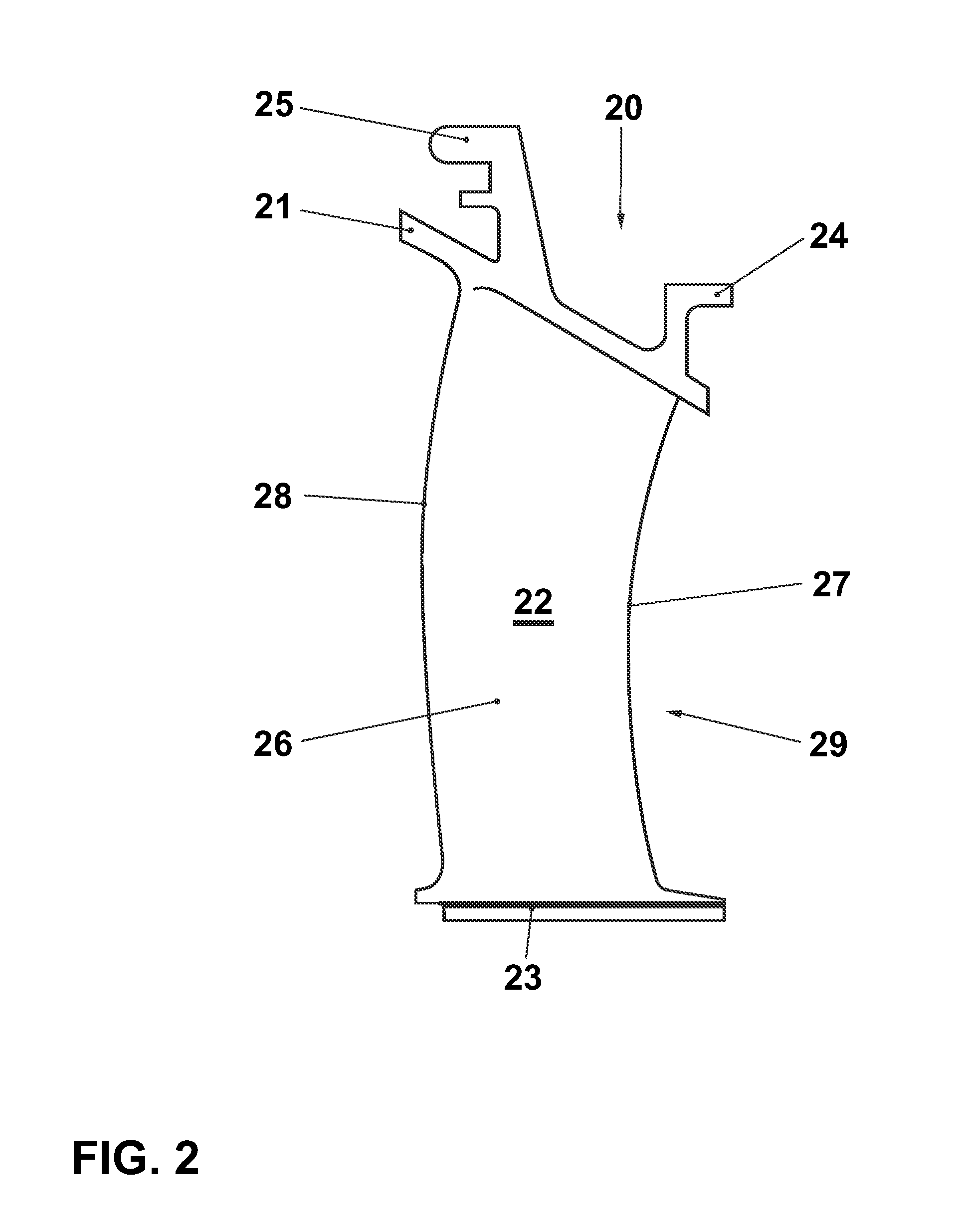 Patent US Guide blade for a gas turbine Google Patents
